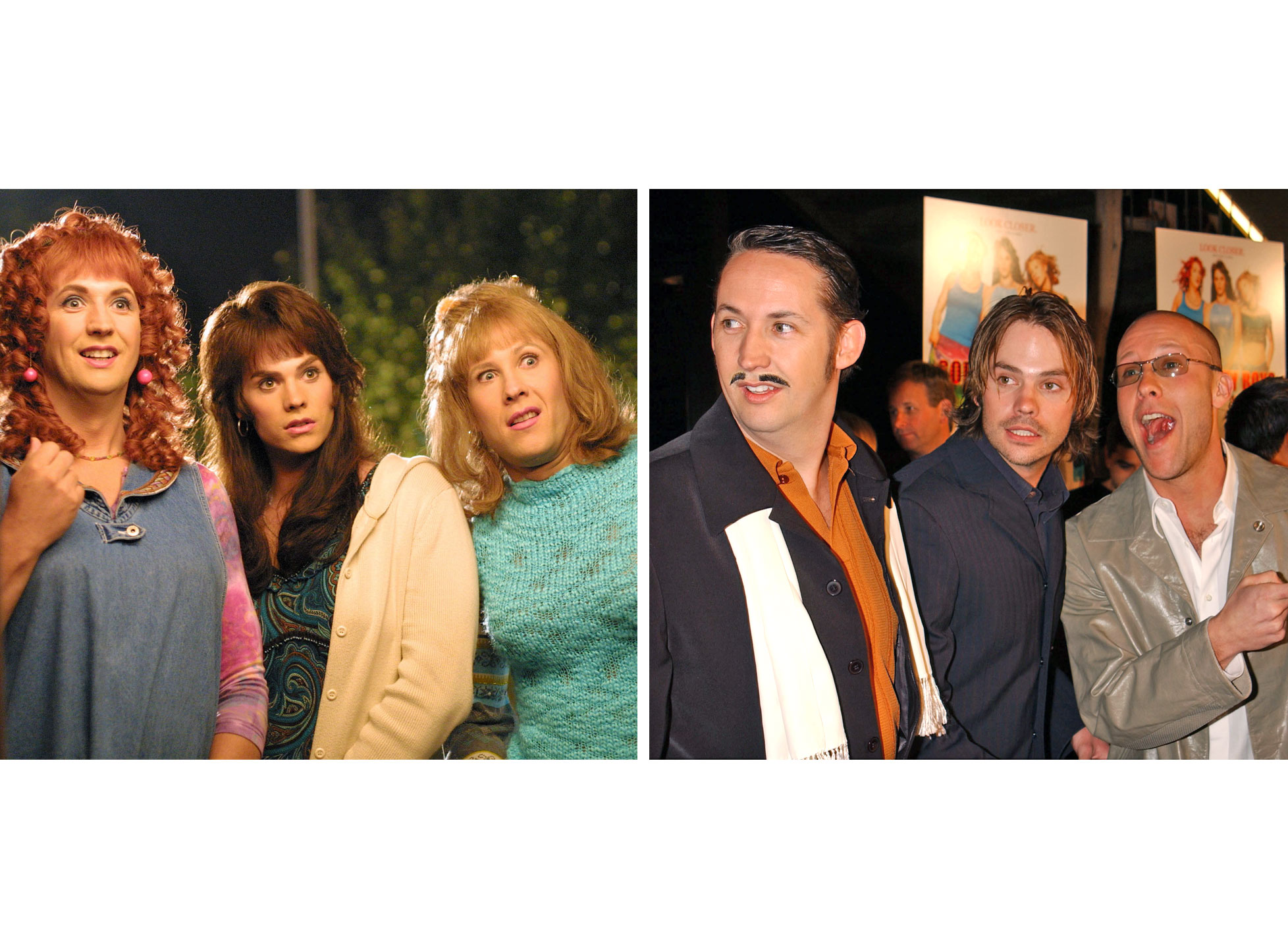 Harland Williams as Roberta, Barry Watson as Daisy and Michael Rosenbaum as Adina in Sorority Boys