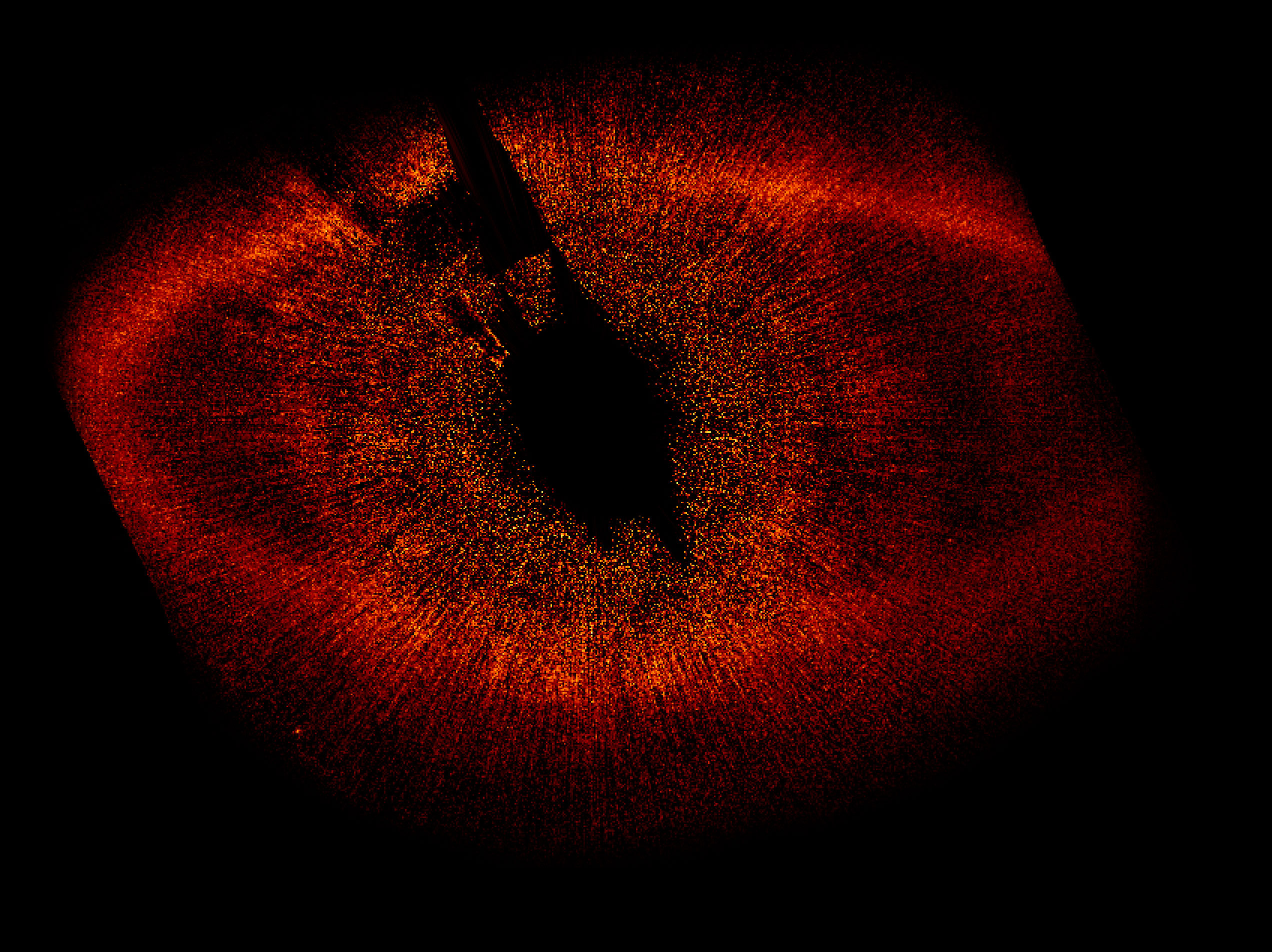 Great Eye of Sauron The large disk of gas surrounding Fomalhaut, dubbed the 'Great Eye of Sauron' by New Scientist magazine, is clearly visible in this image. Fomalhaut is the brightest star in the constellation Piscis Austrinus.