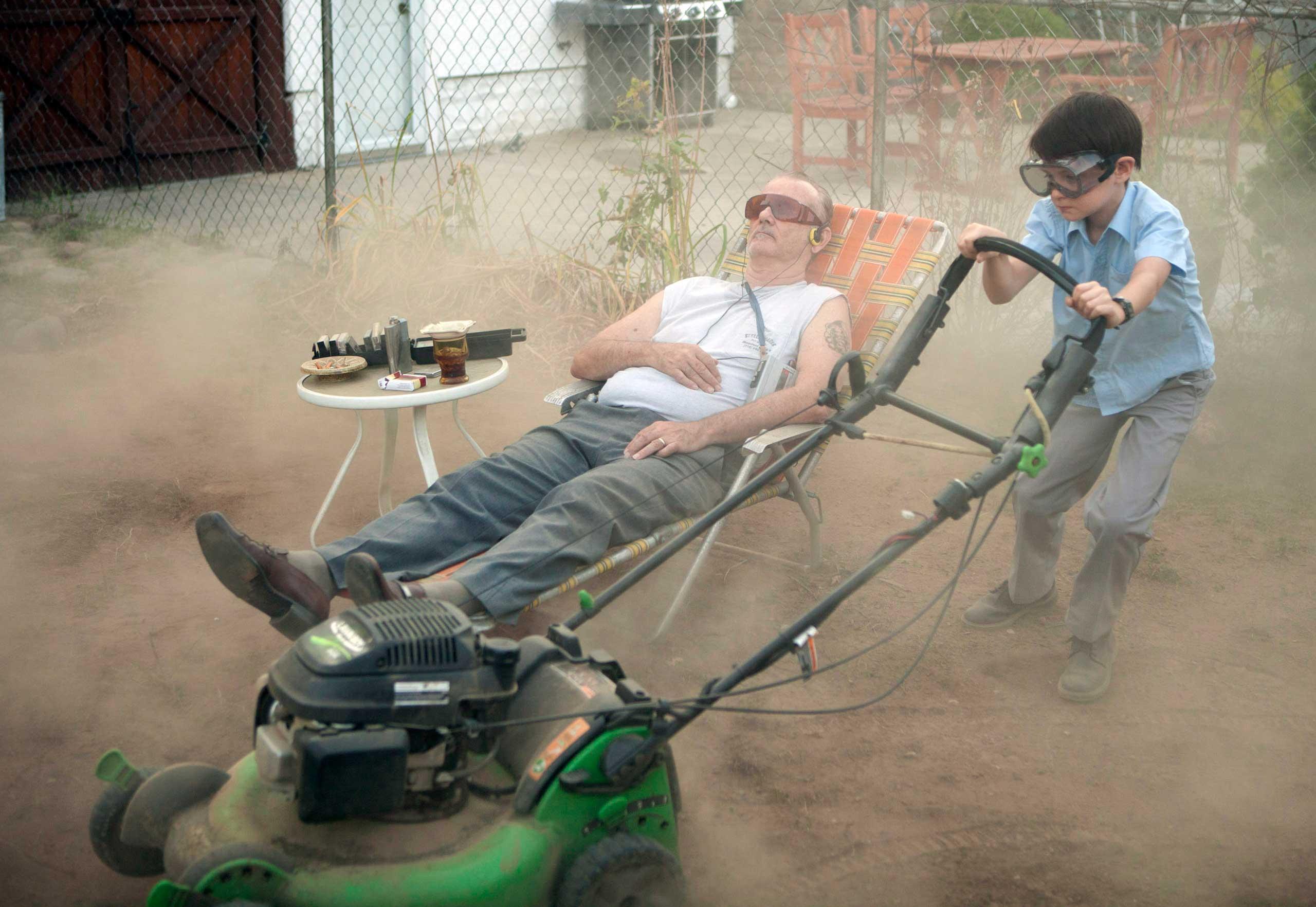 Bill Murray and Jaeden Lieberher star in St. Vincent.