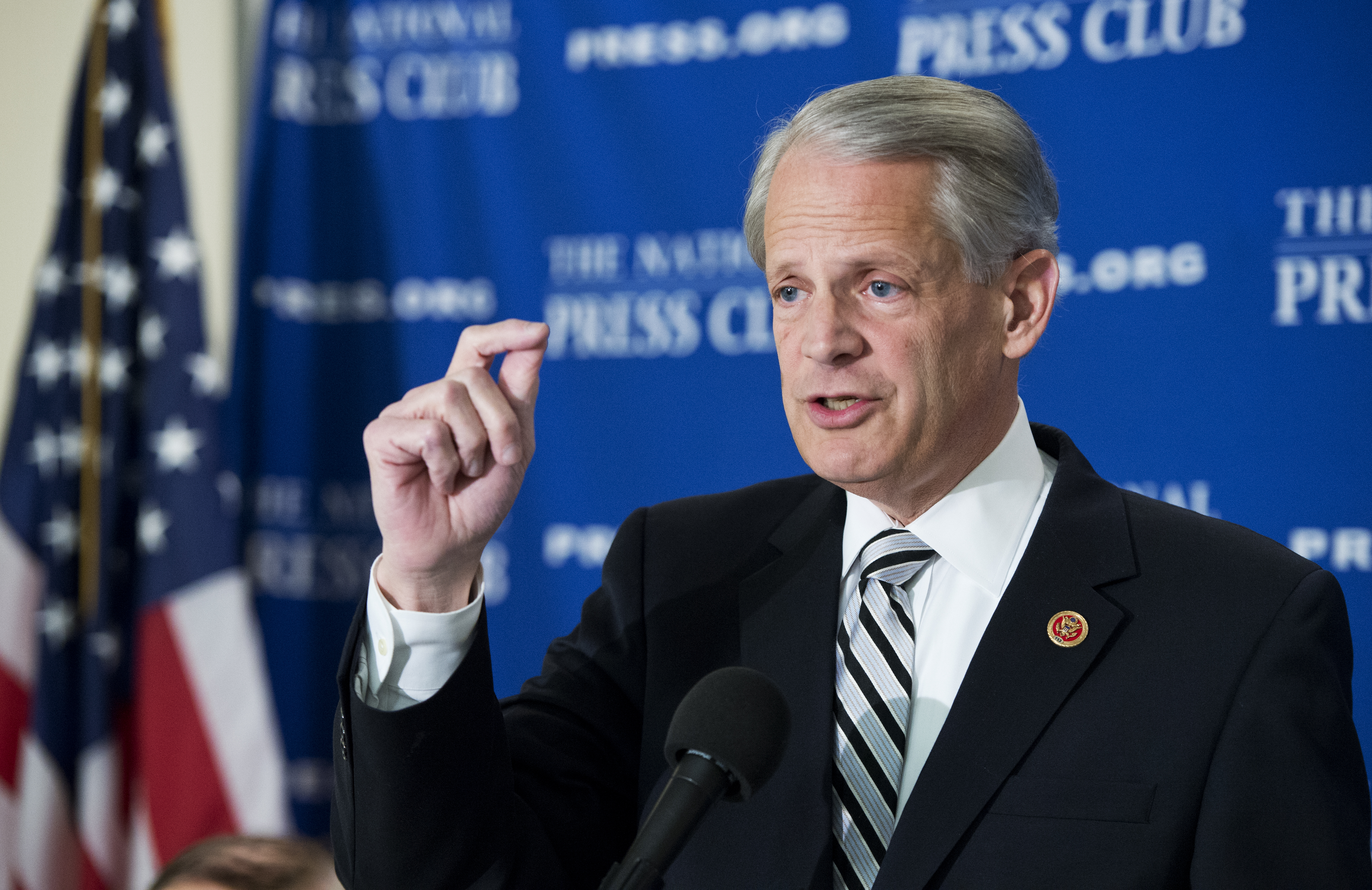 Rep. Steve Israel, D-N.Y., chairman of the DCCC, speaks at the National Press Club's Newsmaker series on how Rep. Paul Ryan's, R-Wis., budget will effect the midterm elections on April 2, 2014.