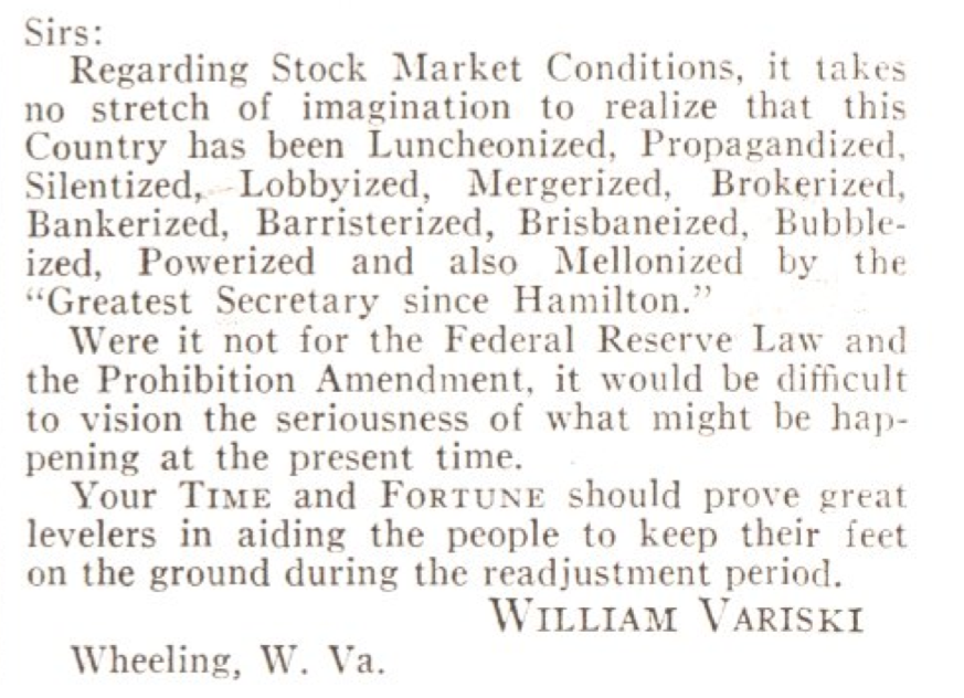 From the Dec. 2, 1929, issue of