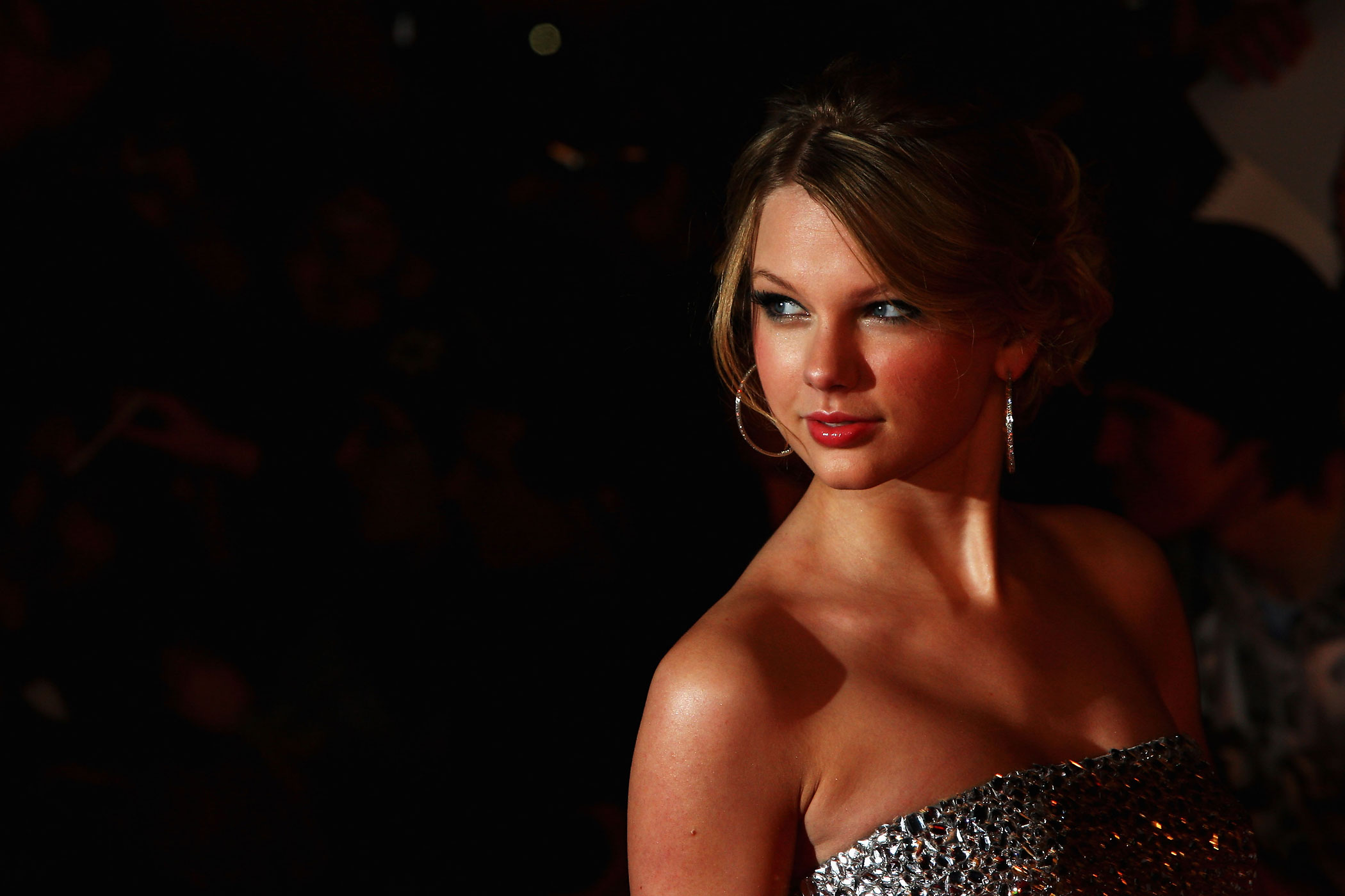 Taylor Swift arrives at the Brit Awards 2009 at Earls Court in London, England.