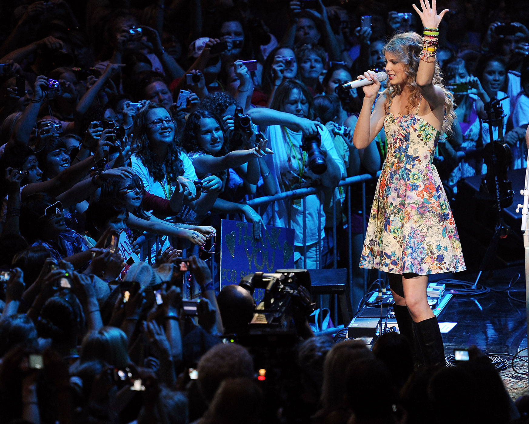Taylor Swift performs at the CMA Music Festival in Nashville, Tennessee in 2010.