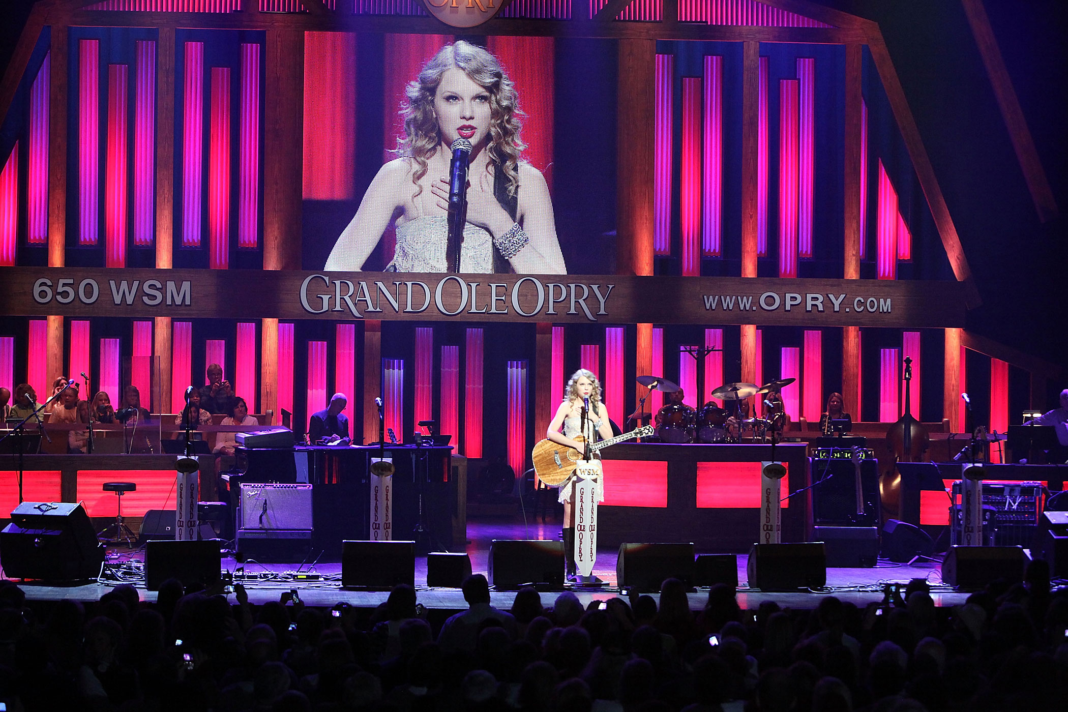 Taylor Swift performs during the Grand Ole Opry 85th birthday bash at the Grand Ole Opry House in Nashville, Tennessee in 2010.