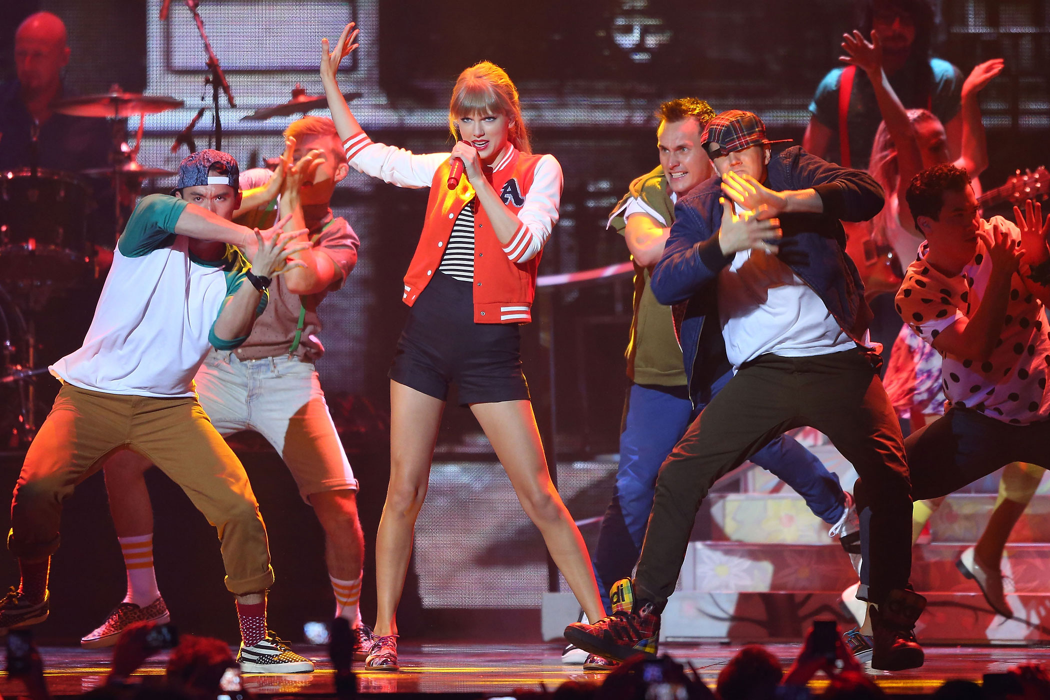 Taylor Swift performs on stage during the 26th Annual ARIA Awards 2012 at the Sydney Entertainment Centre in Sydney, Australia.