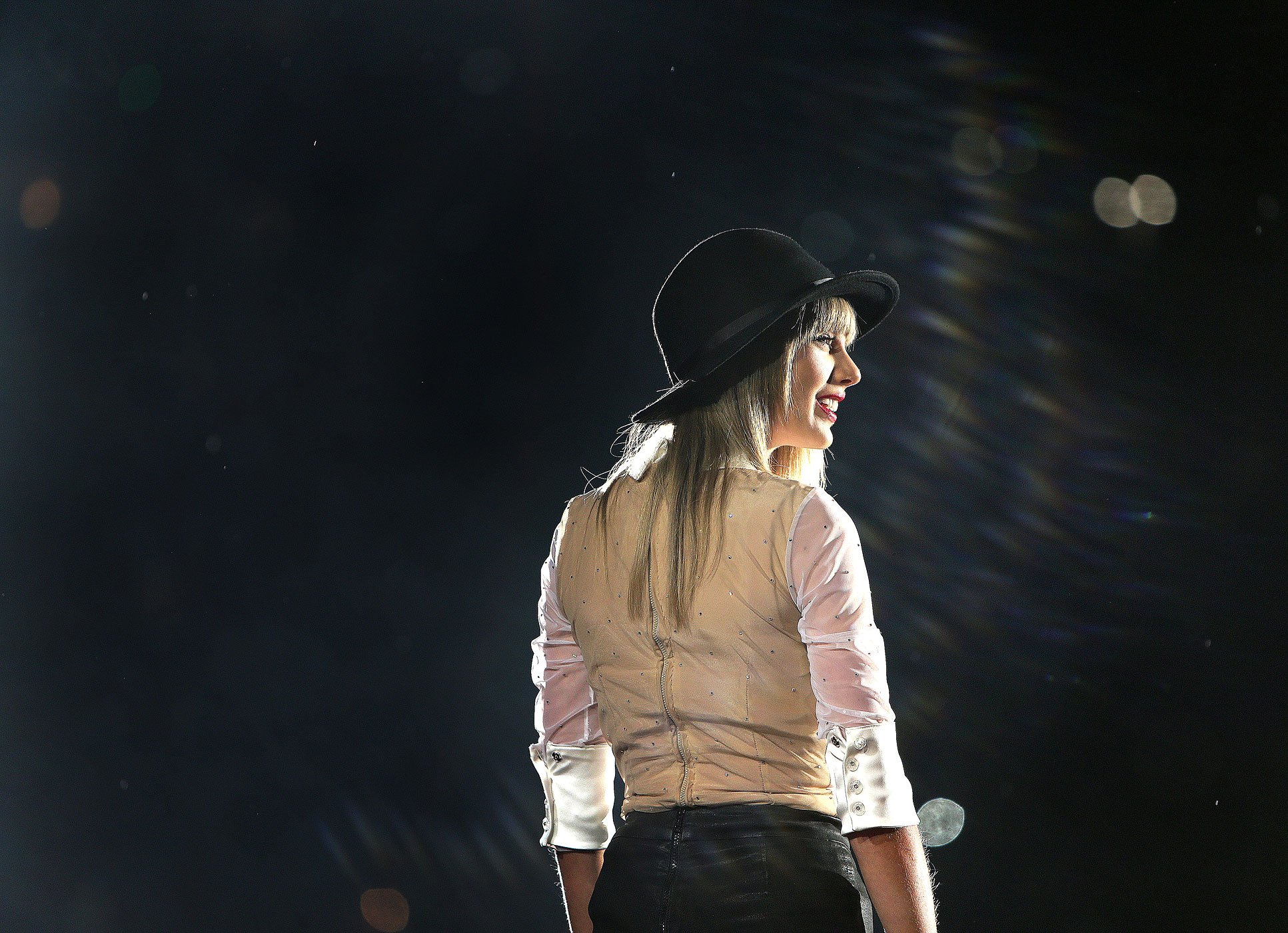 Taylor Swift in concert at Gillette Stadium in Foxborough, Massachusetts in 2013.