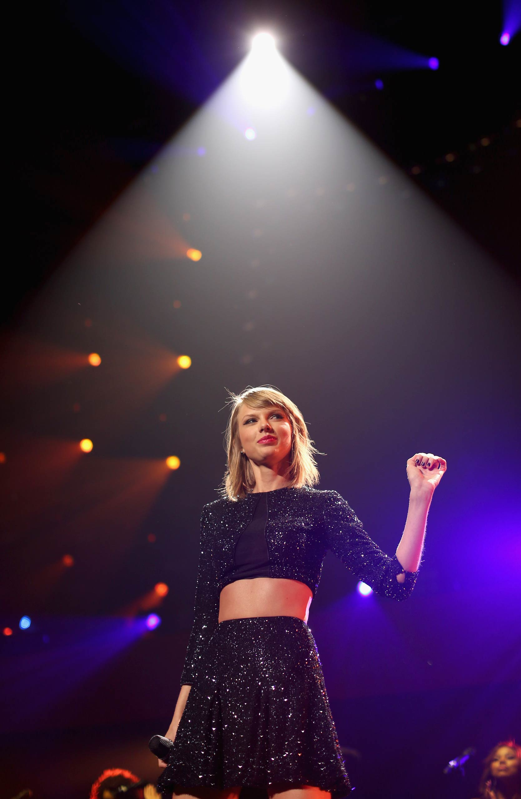Taylor Swift performs onstage during KIIS FM's Jingle Ball 2014 at Staples Center on December 5, 2014 in Los Angeles, Ca.