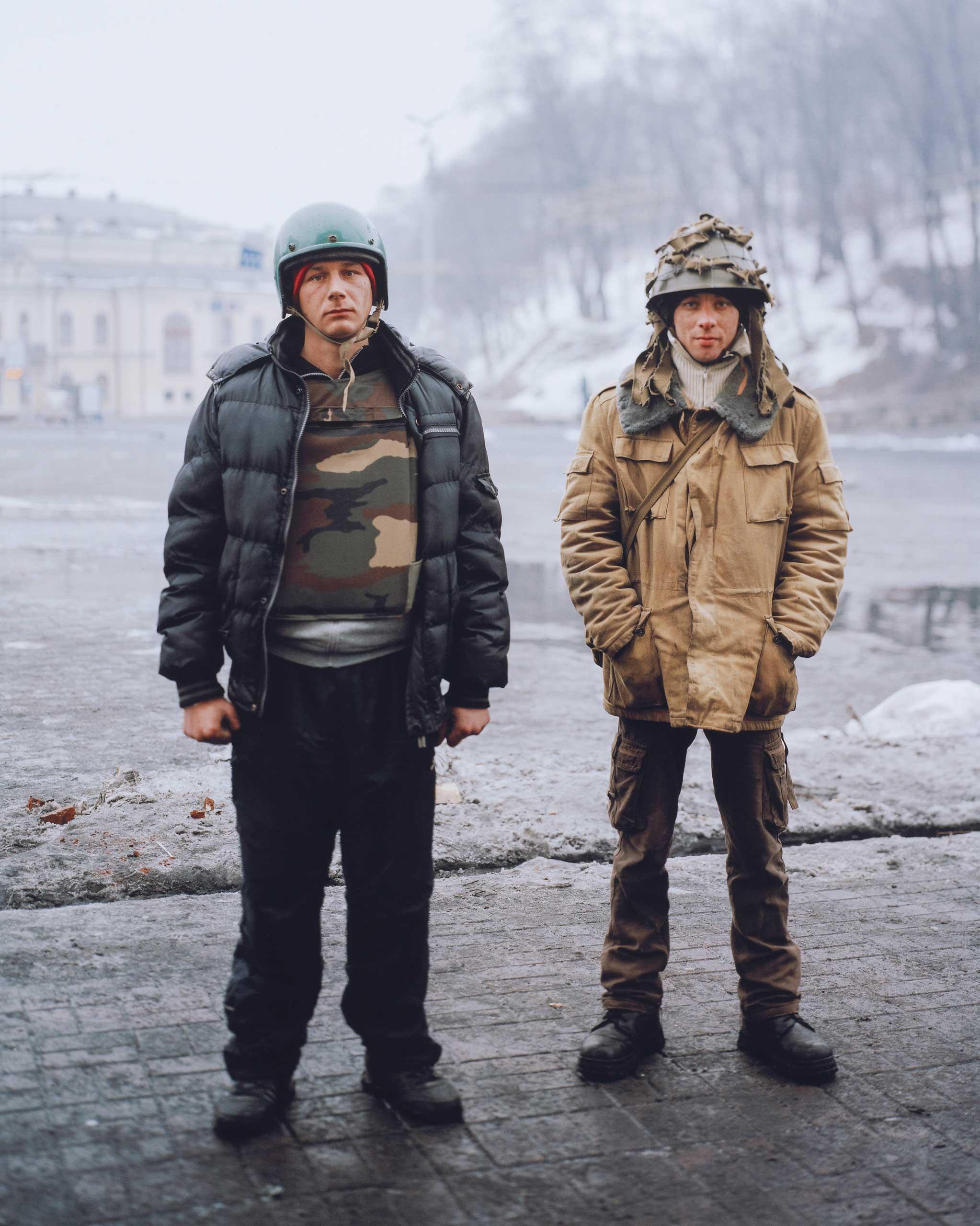 Euromaidan protestors in Kyiv, Ukraine, 2014.