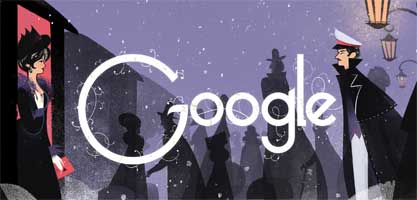 "<strong>Sept. 9, 2014</strong> For <a href=""http://time.com/3308635/google-doodle-tolstoy/"" target=""_blank"">Tolstoy's 186th birthday, </a> the Google Doodle team created an appropriately long click-through doodle."