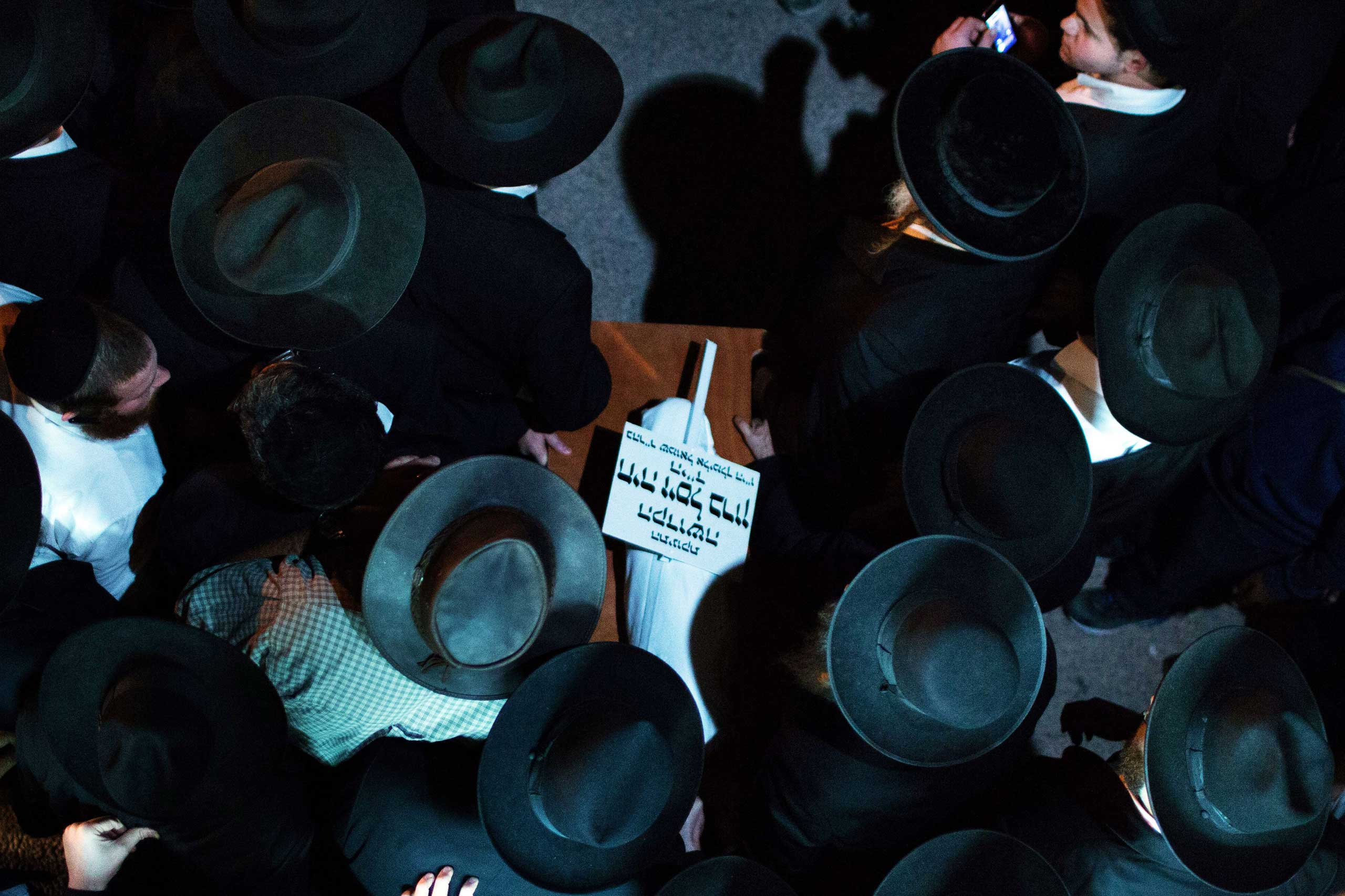 Oct. 23, 2014. Ultra-orthodox Jewish mourners carry the body of three-month-old baby Chaya Zissel Braun during her funeral in Jerusalem after she was killed in what Israeli police called a  hit-and-run terror attack  when a Palestinian driver rammed a group of pedestrians. Nine others were injured in the attack.
