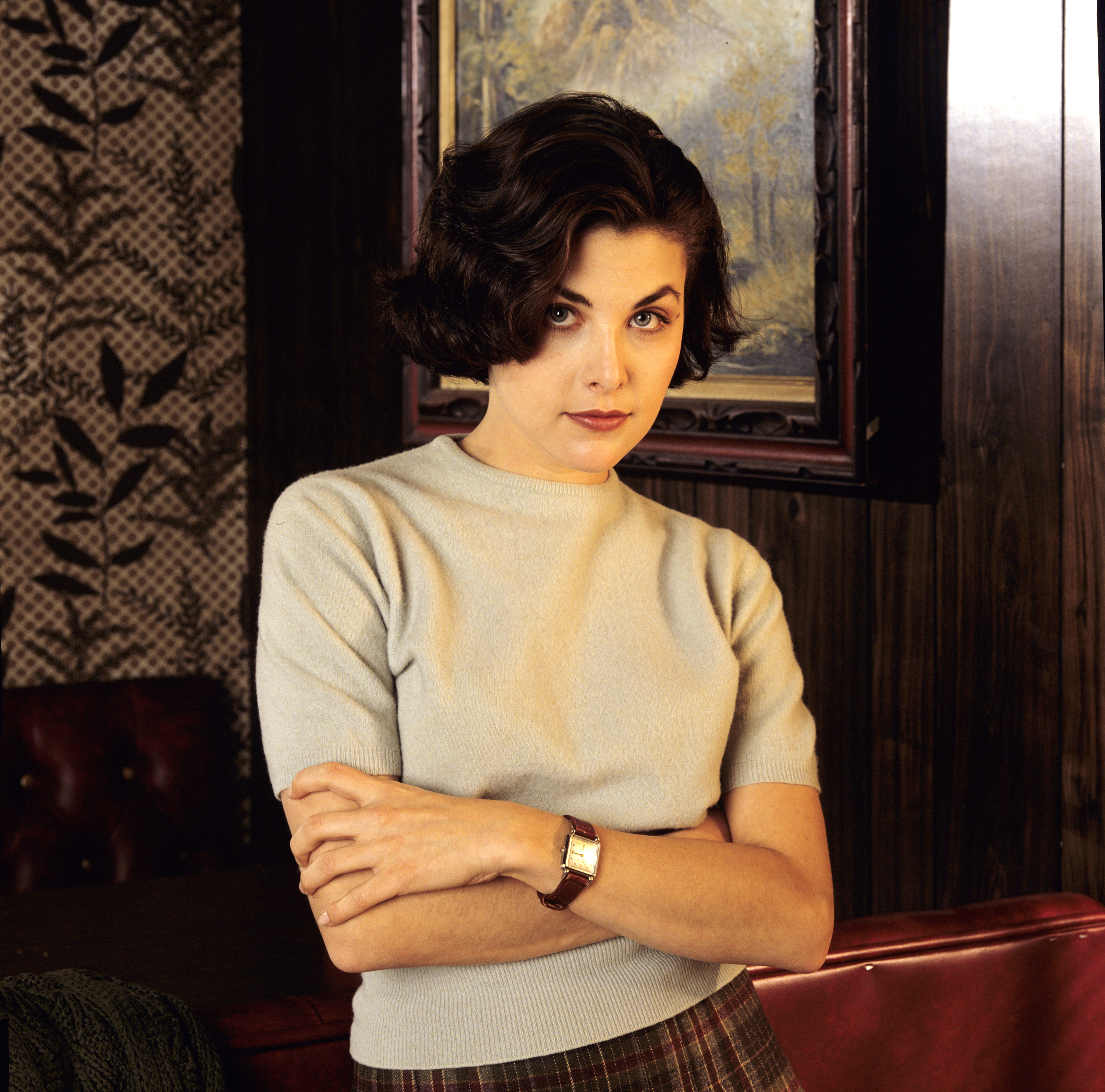 Actress Sherilyn Fenn who played Audrey Horne on the television show 'Twin Peaks' on Nov. 20, 1989.