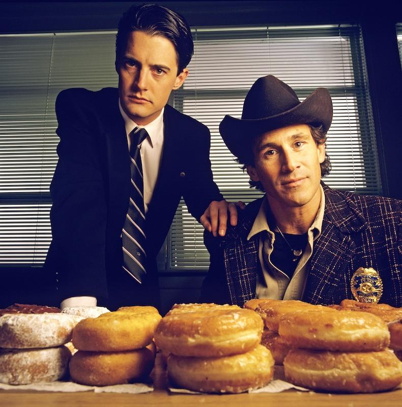 Kyle MacLaughlin, left,  and Michael Ontkean on Twin Peaks