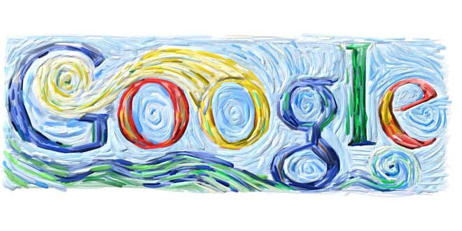 <strong>March 30, 2005</strong> The Van Gogh doodle appeared in an era when doodles began to get more ambitious, and it's one of the doodlers' best interpretations of a specific painter.