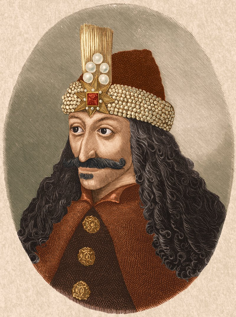 Circa 1450, portrait of Vlad Tepes or Vlad the Impaler, from a painting in Castle Ambras in the Tyrol