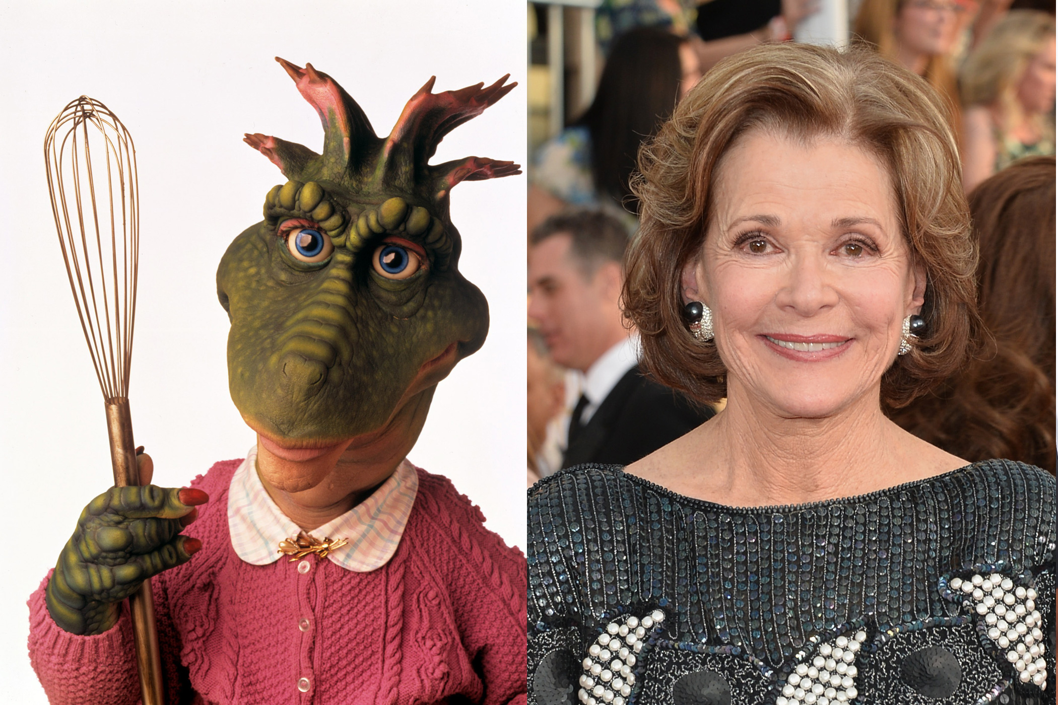 <i>Arrested Development</i> star Jessica Walter currently voices Malory Archer in FX's <i>Archer</i>, but back in the 90s, she was the voice of <i>Dinosaurs</i> matriarch Fran Sinclair.
