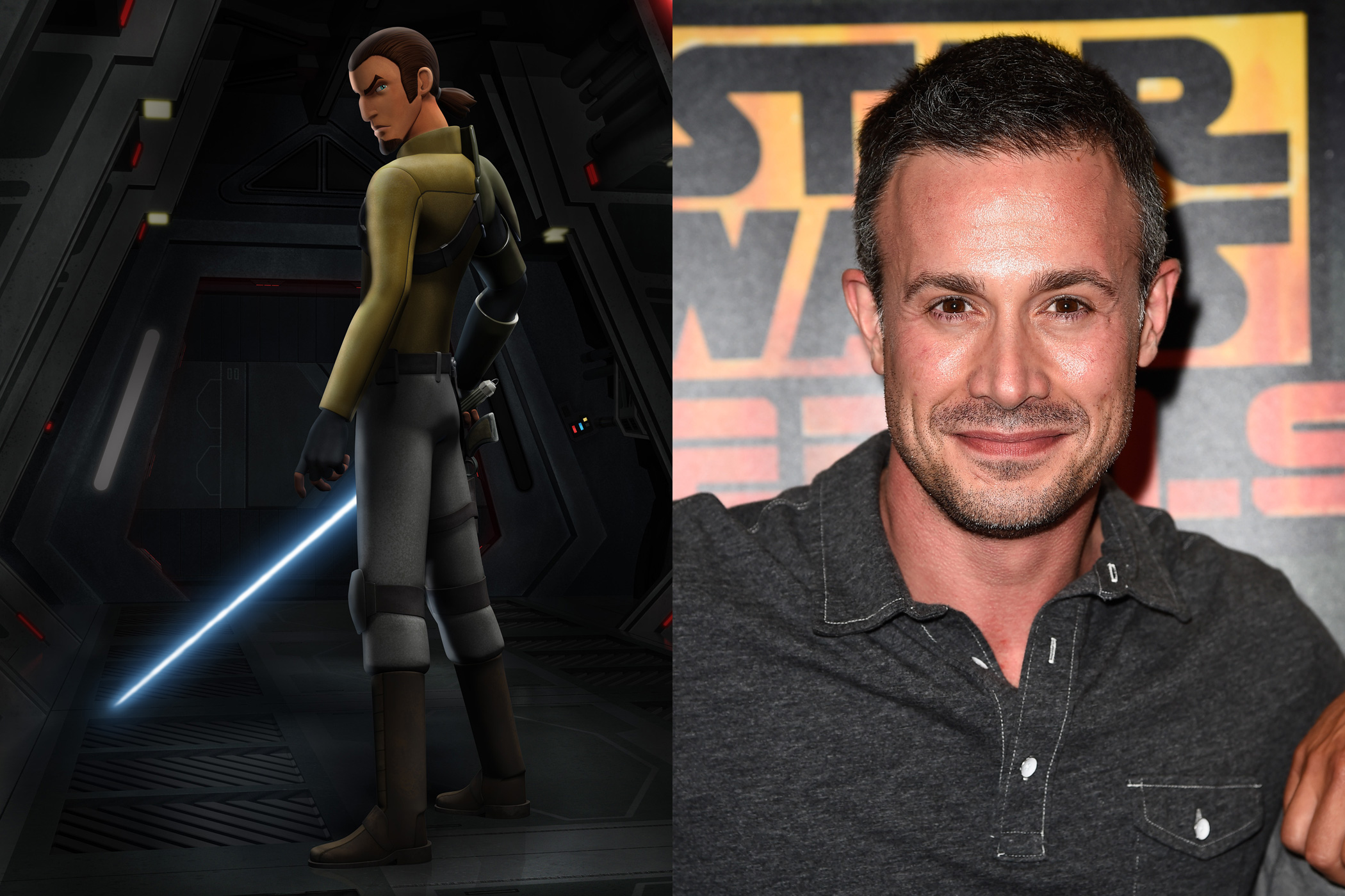 Freddie Prinze Jr., the 90s heartthrob and movie star, is back to voice Kanan, a Jedi in Disney's latest animated series, <i>Star Wars Rebels</i>.