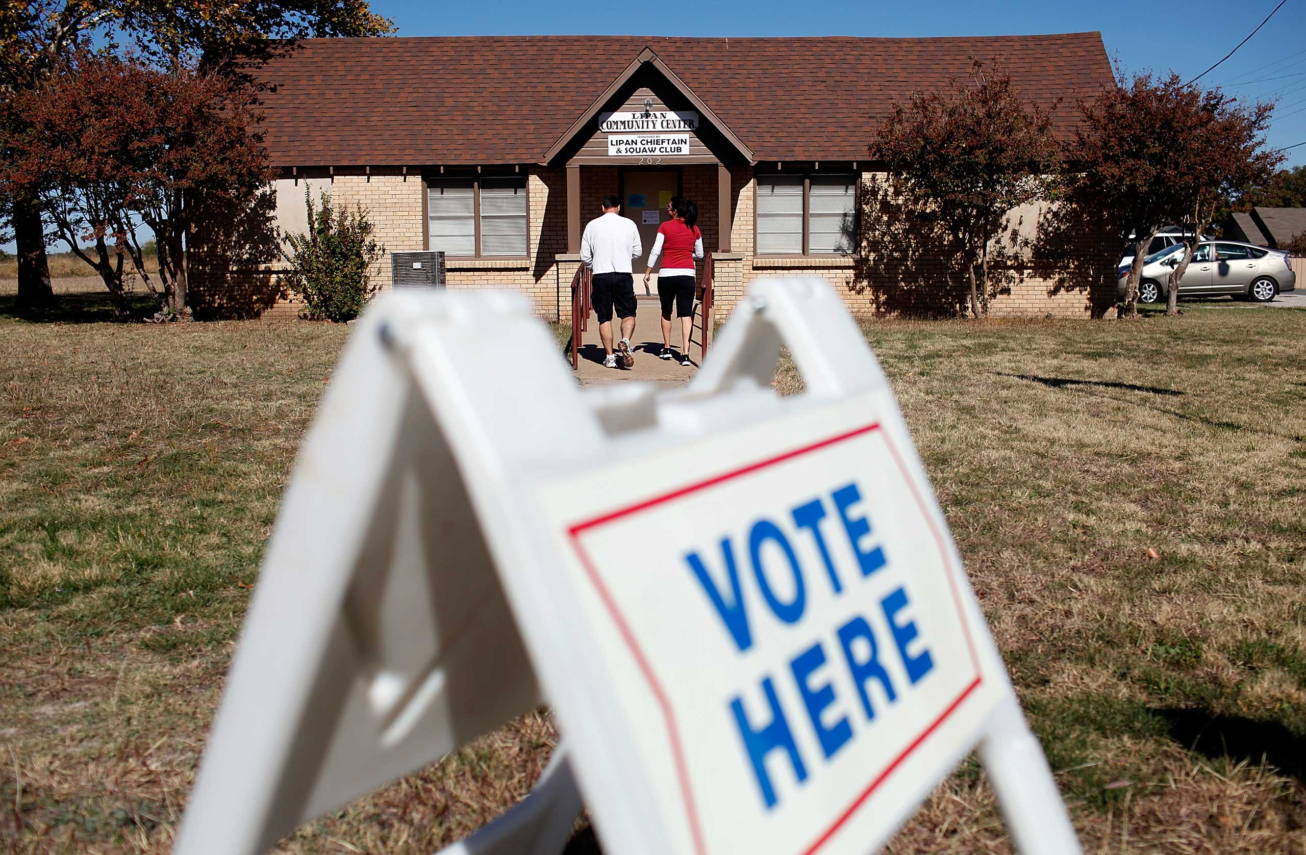 A polling location in Lipan, Texas seen during the last presidential elections in 2012.