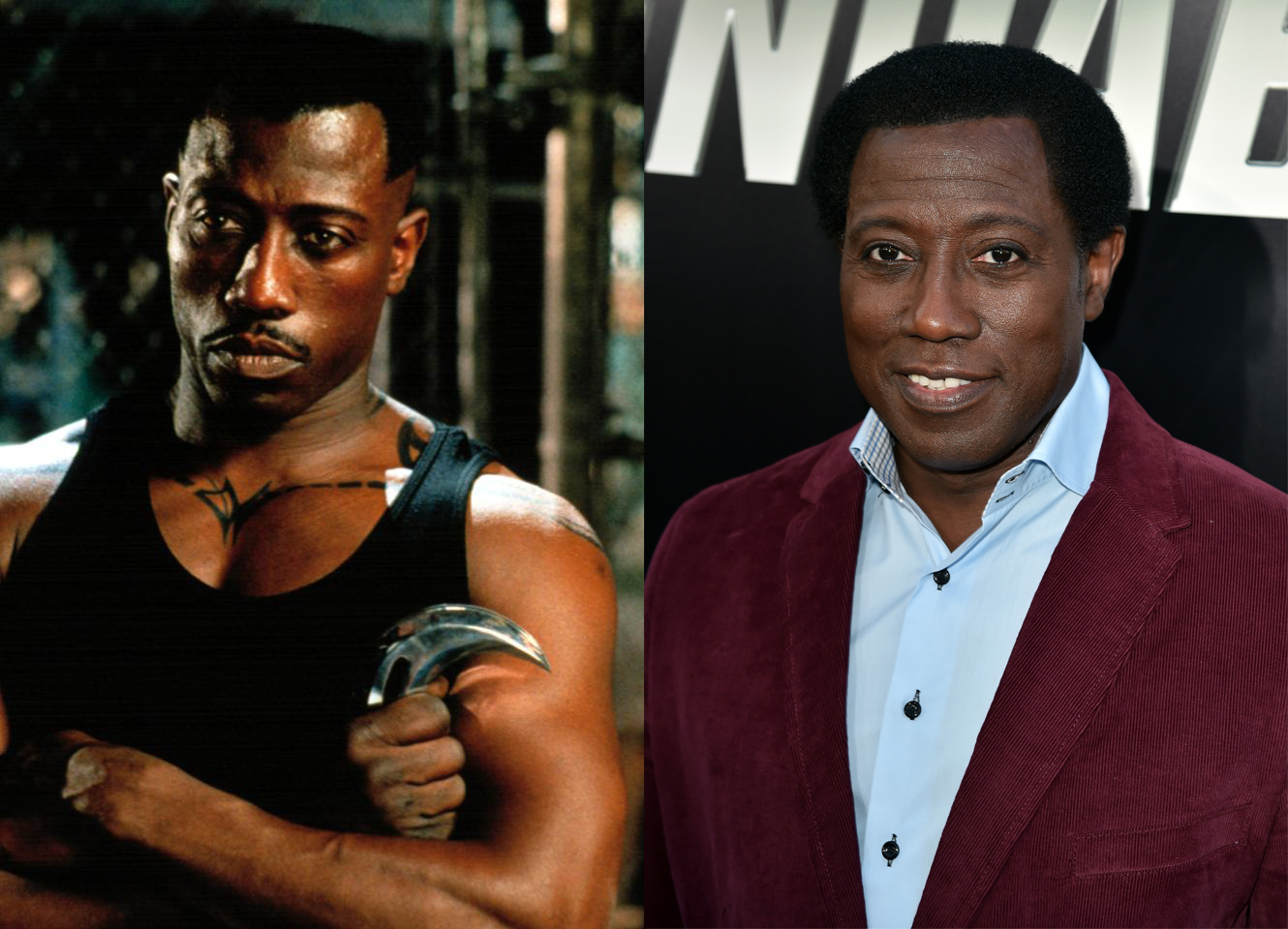 From 1998 to 2004, Wesley Snipes played the lead character in the three Blade movies. He's done little sense, but surged back on the scene this year in The Expendables 3, playing on his tough guy persona.