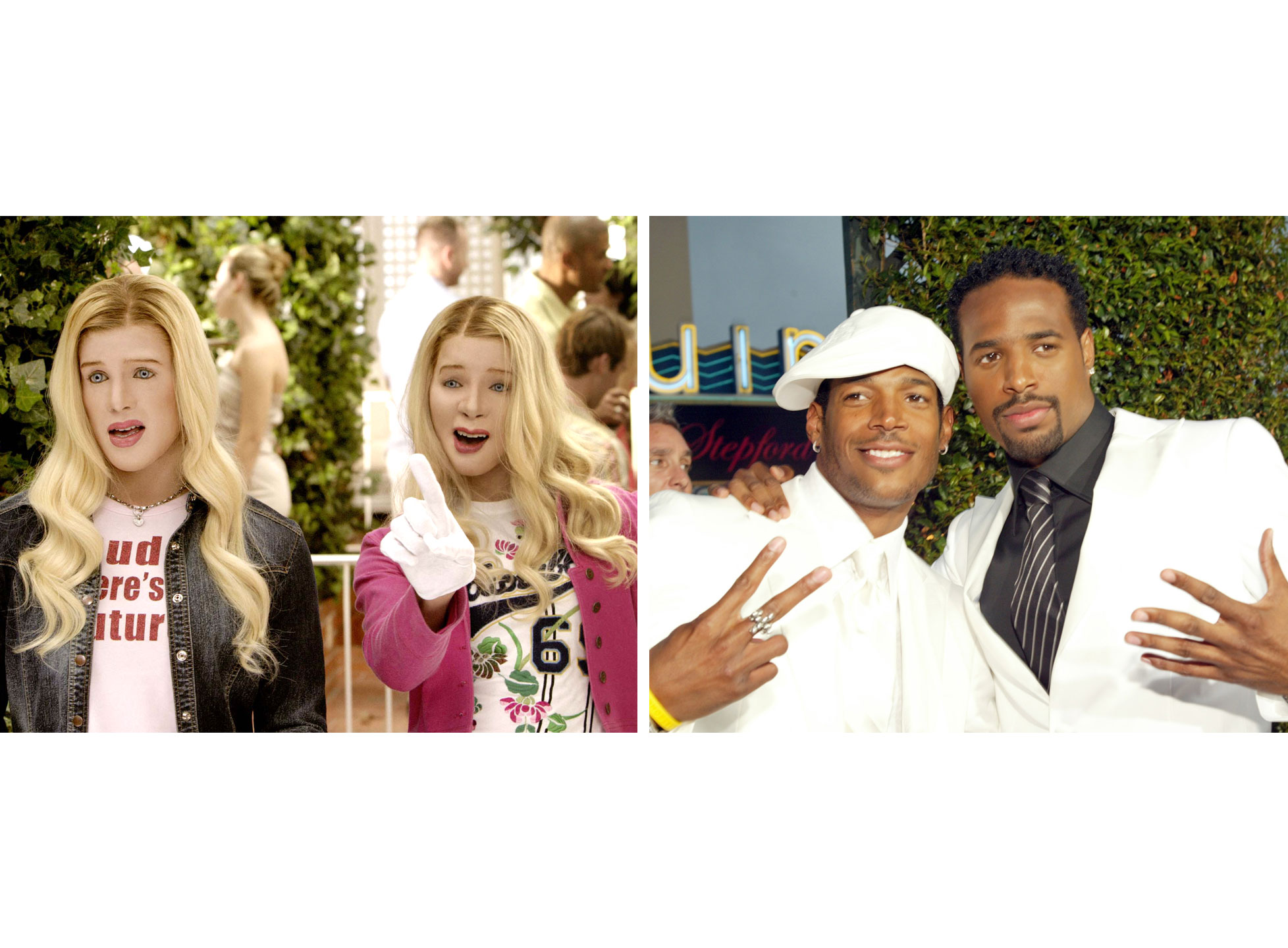 Marlon Wayans as Marcus Copeland and Shawn Wayans as Kevin Copeland in White Chicks