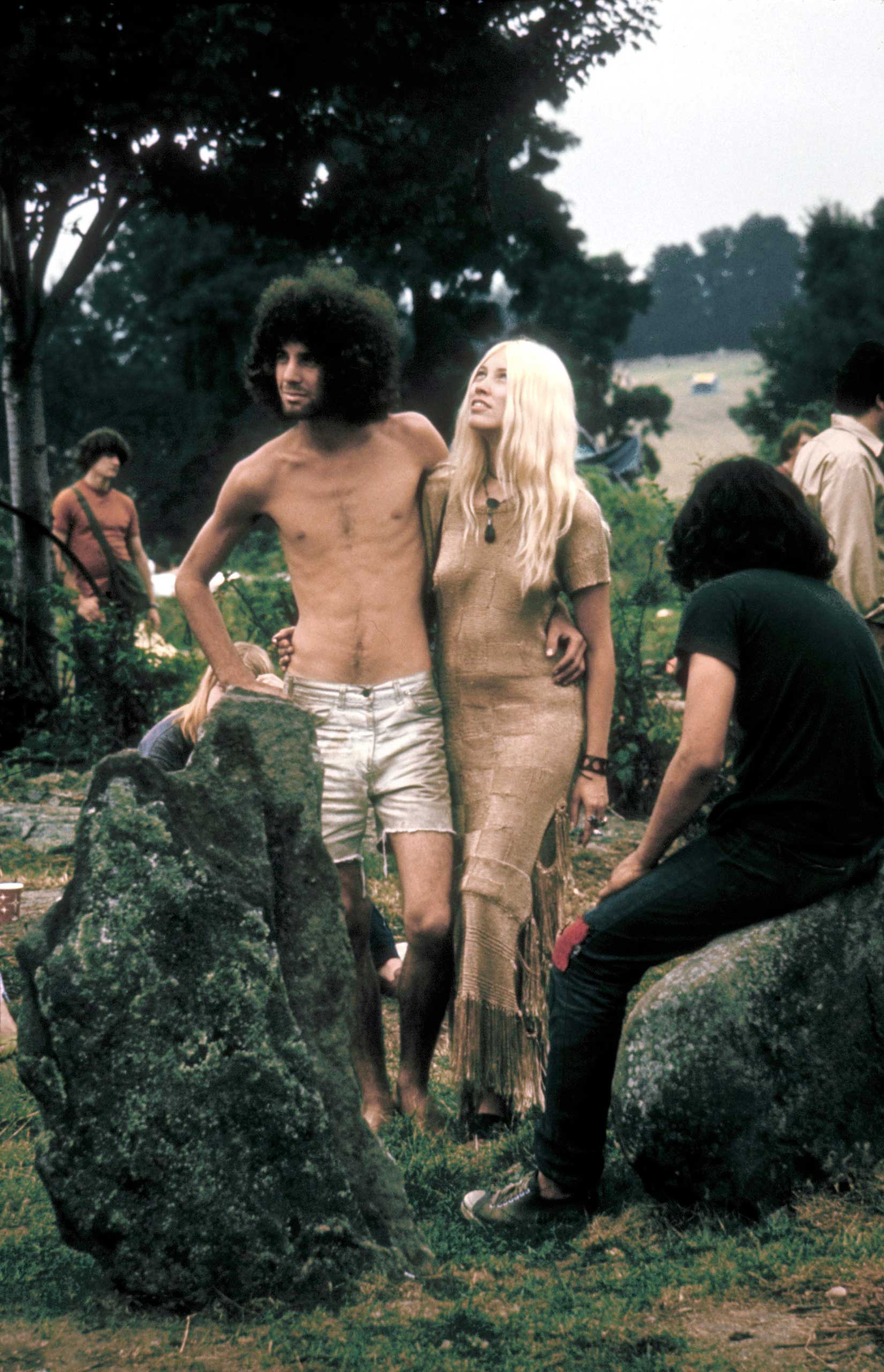 Not published in LIFE. Woodstock Music & Art Fair, August 1969.  I like this shot of a handsome young hippie couple,  photographer John Dominis told LIFE.com.  They seem so comfortable with each other. A very endearing image, I think.