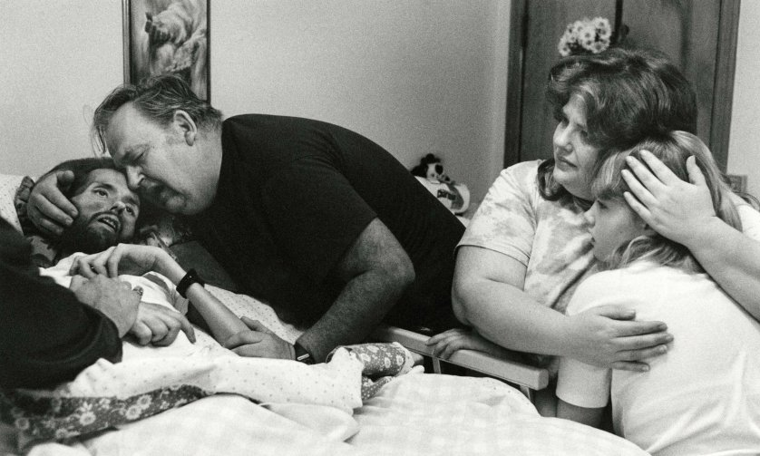 David Kirby on his deathbed, Ohio, 1990.