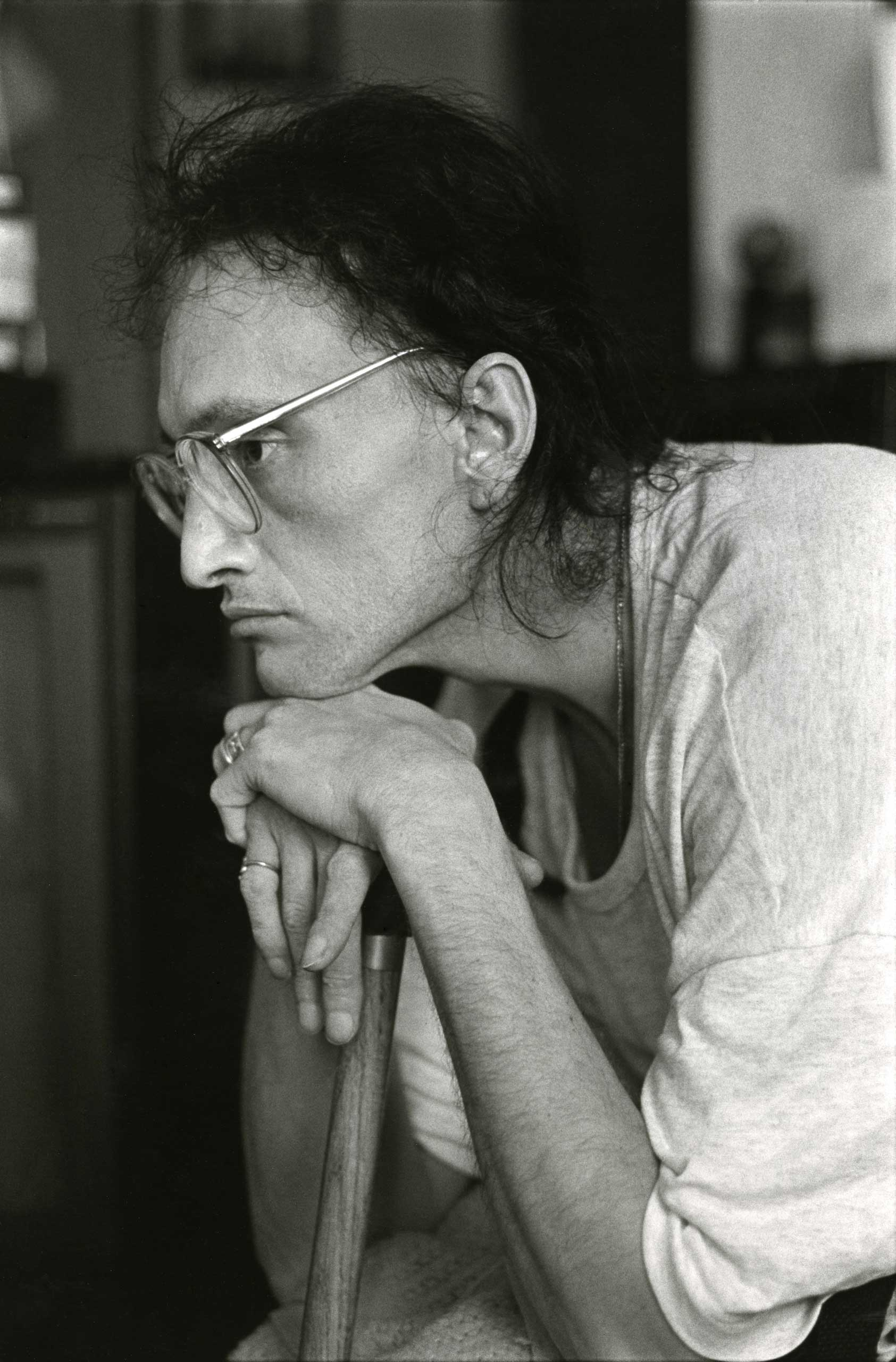 Peta at Pater Noster House, 1992.