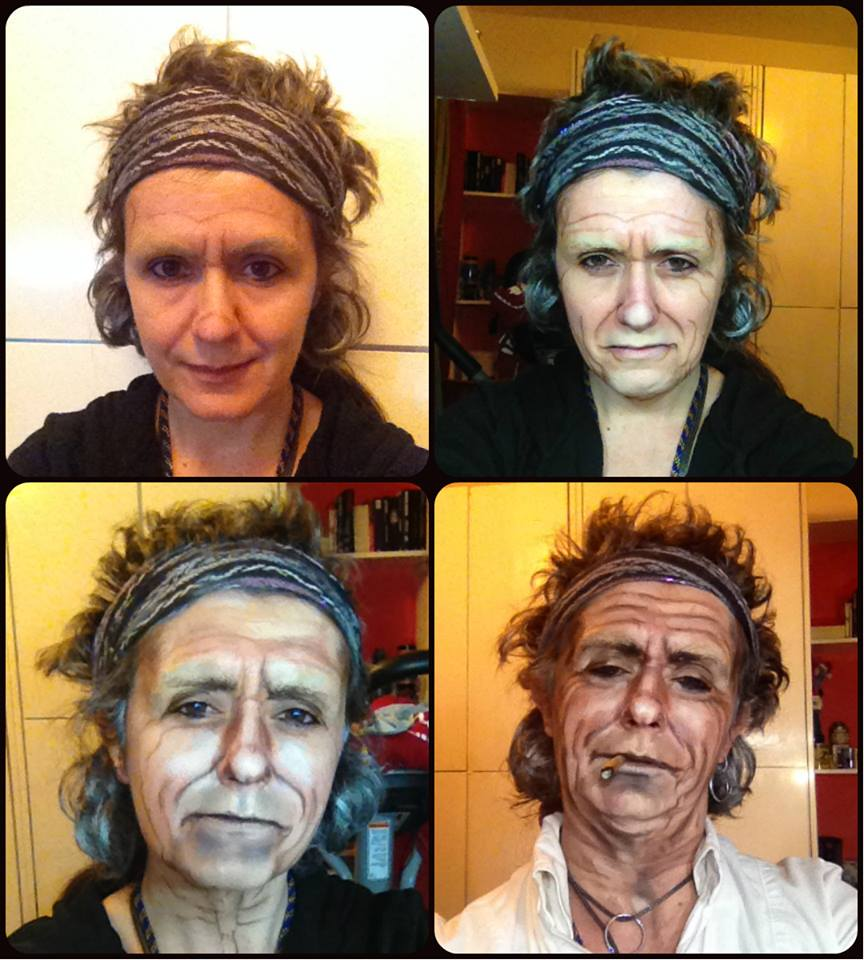 Lucia Pittalis as the musician Keith Richards from The Rolling Stones