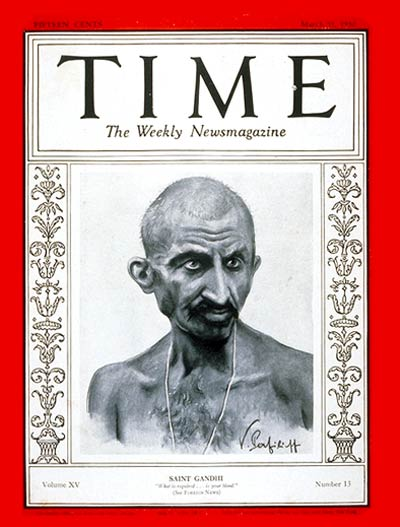 Mahatma Gandhi on the cover of TIME, Mar. 31, 1930