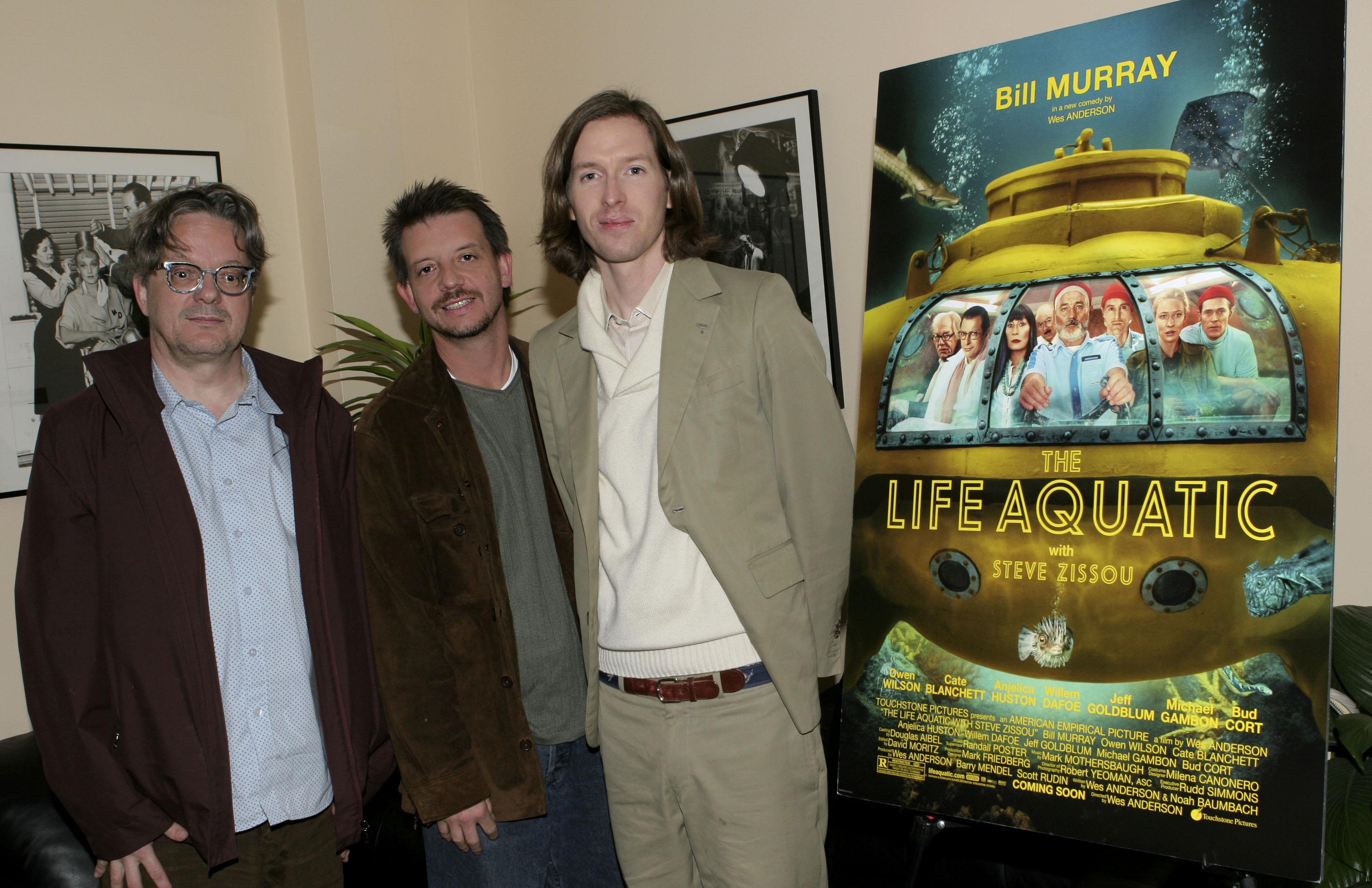 Mark Mothersbaugh, Jonathan McHugh and Wes Anderson