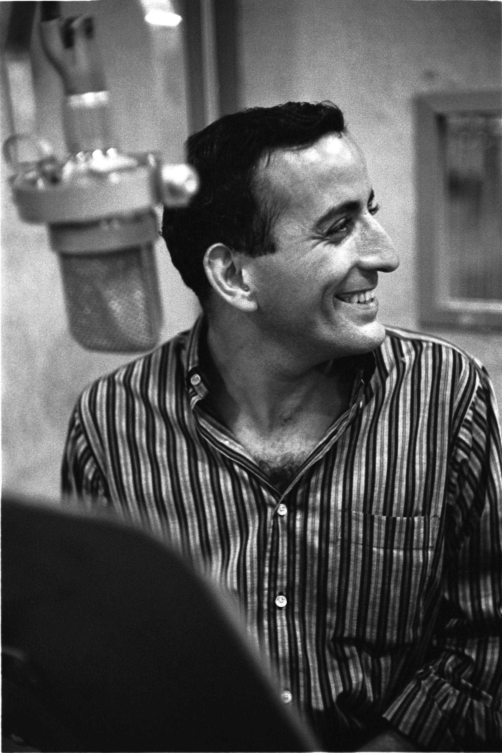 Tony Bennett in the recording studio, June 1957.