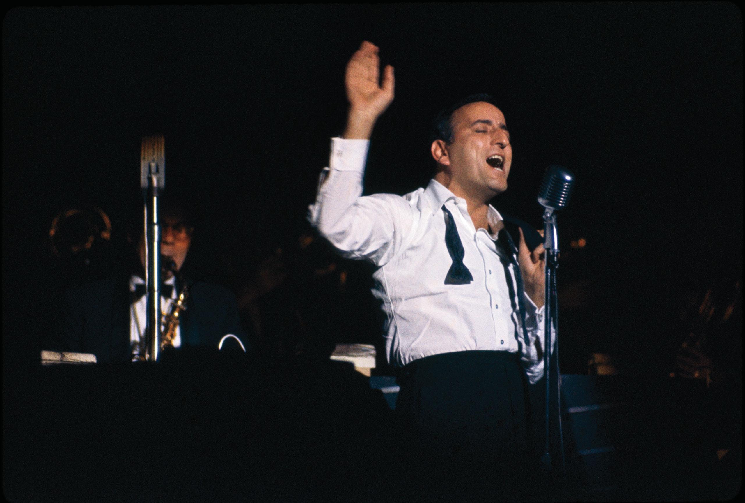 Tony Bennett onstage in Philadelphia, November 1963.