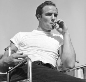 Marlon Brando in rehearsal for The Men, 1949.