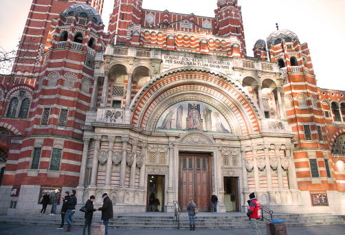 Facade of Westminster Cathedral.