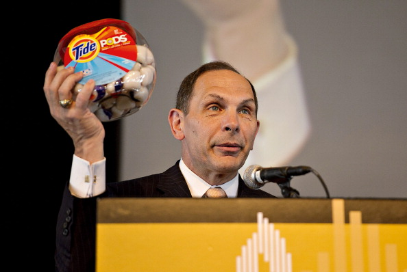 Bob McDonald, then the top executive of Procter & Gamble, highlights P&G's Tide Pod detergent in 2012. He's now secretary of the Department of Veterans Affairs.