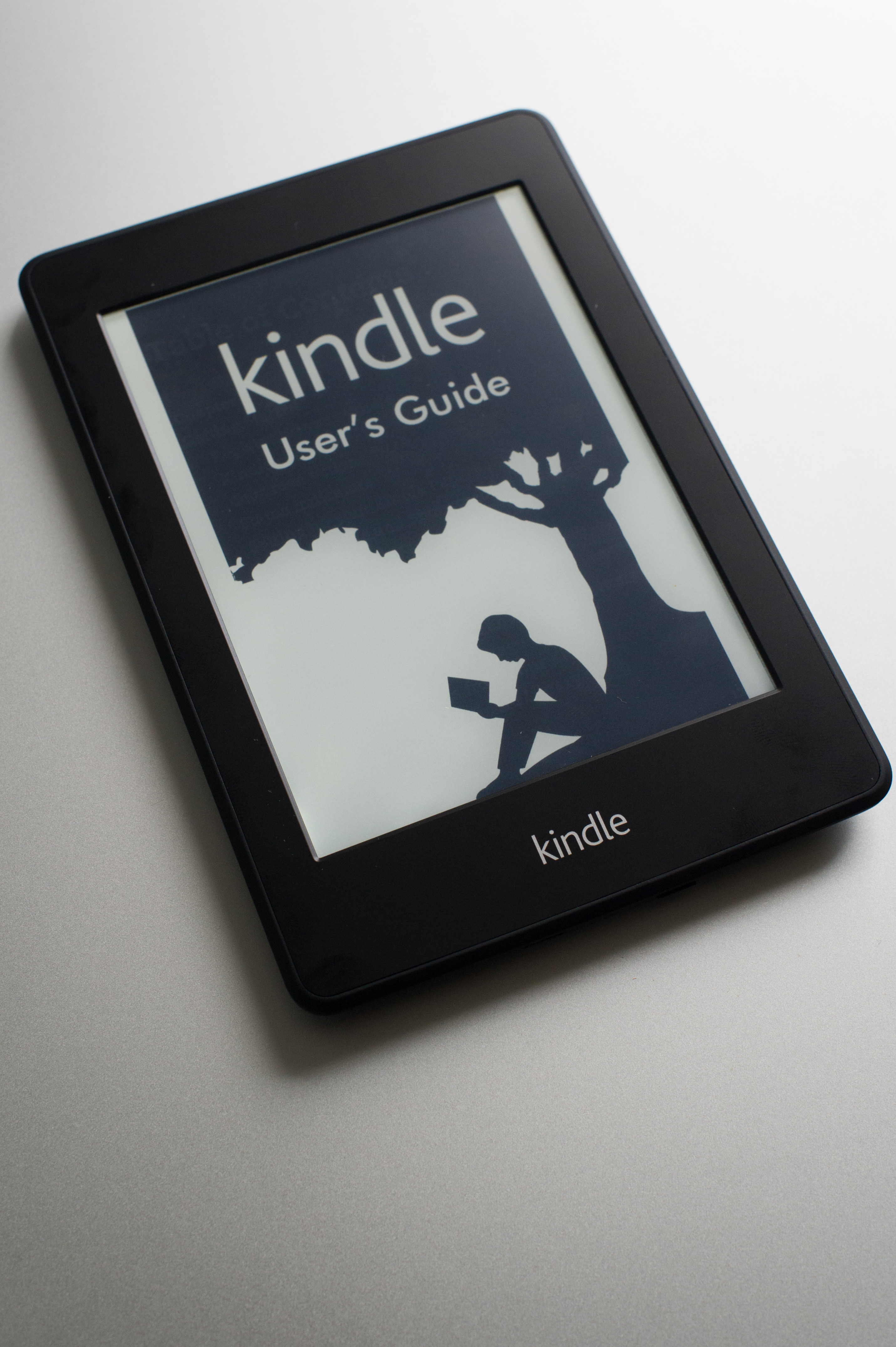 View of an Amazon's Kindle reader.