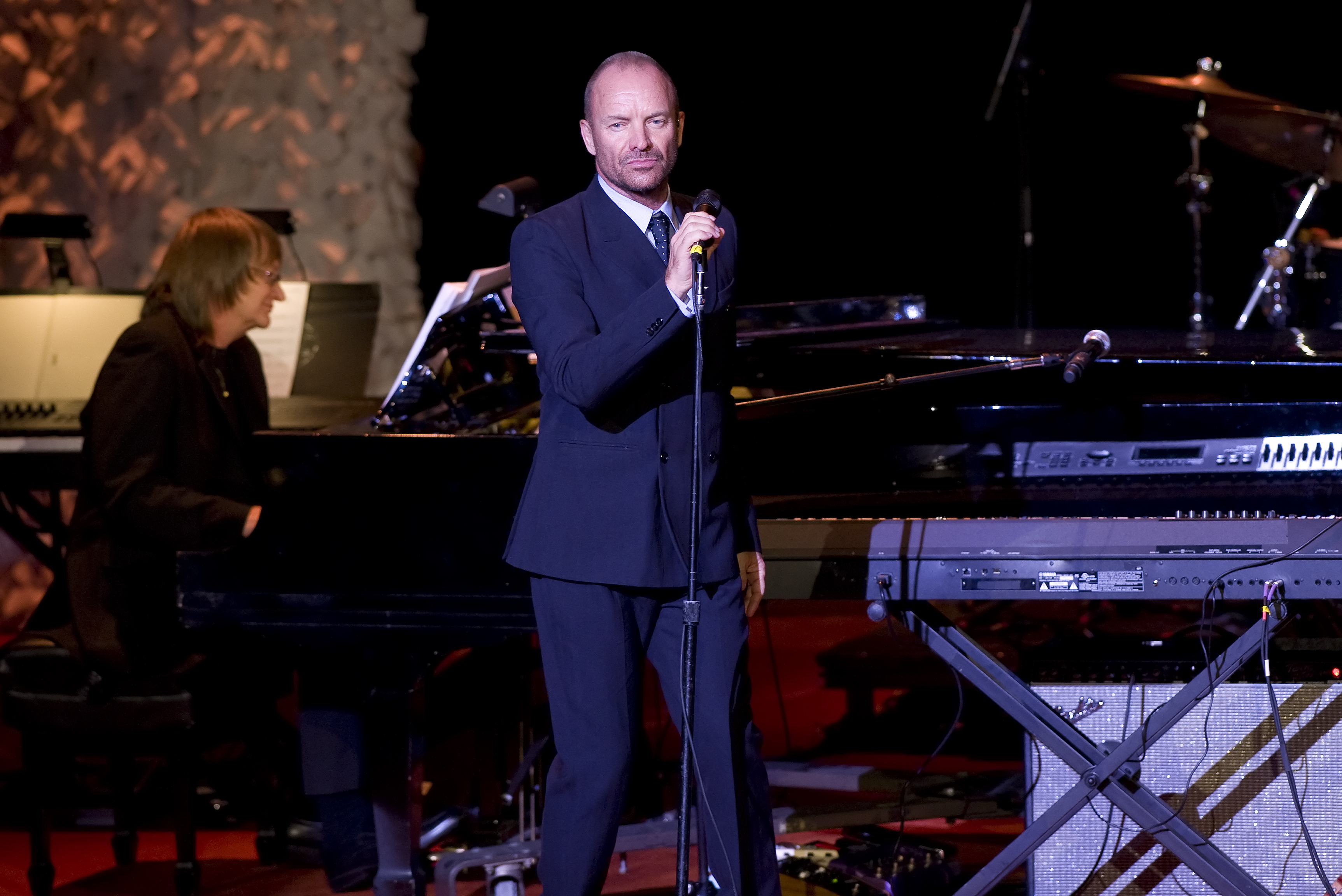 Sting performs at the 2014 ASCAP Centennial Awards, benefiting the ASCAP Foundation and its music education, talent development and humanitarian activities, at the Waldorf-Astoria on Monday, Nov. 17, 2014, in New York.