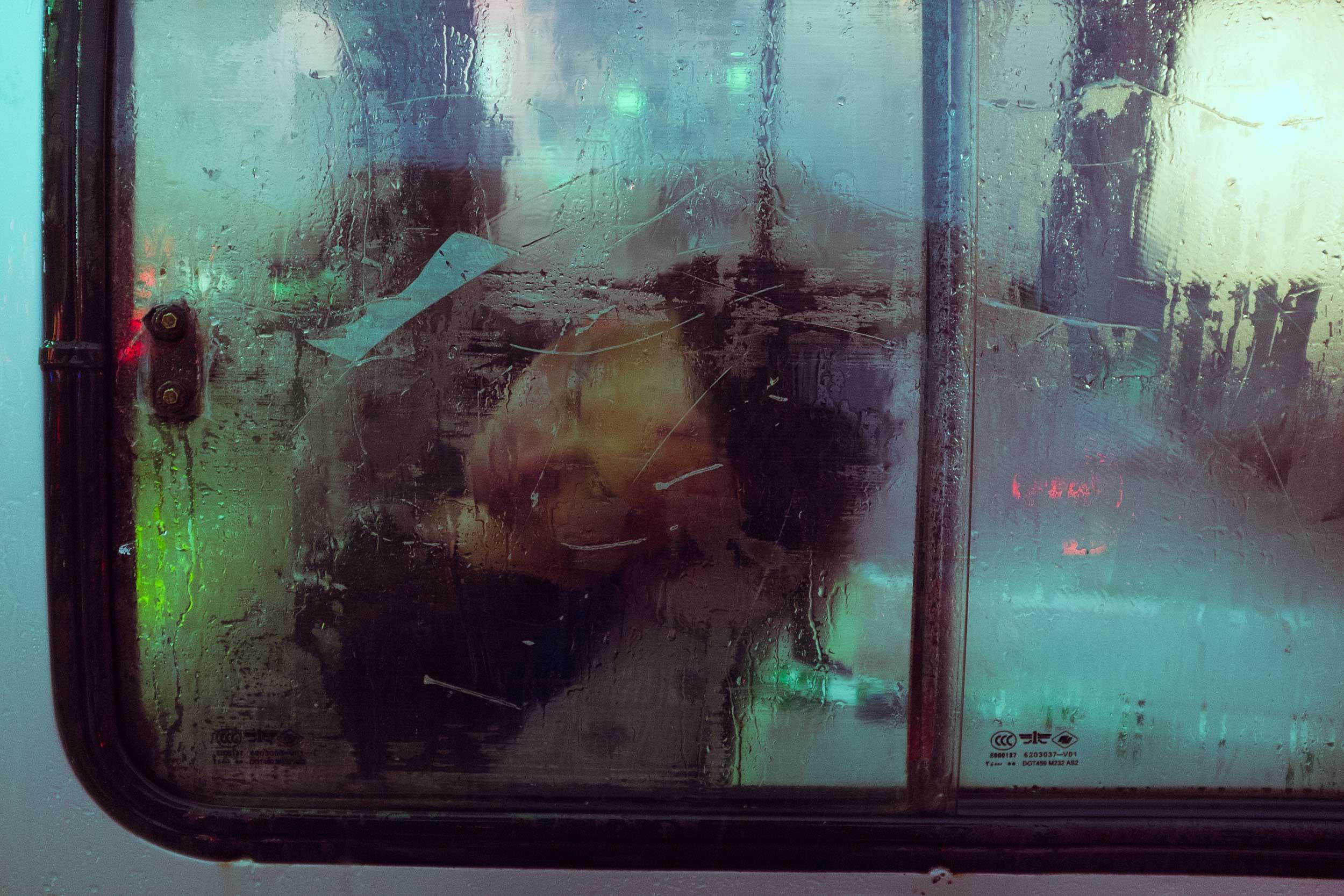 Car Window After Rain