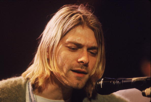 Kurt Cobain, performs with his group Nirvana at a taping of MTV Unplugged in New York City on Nov. 18, 1993