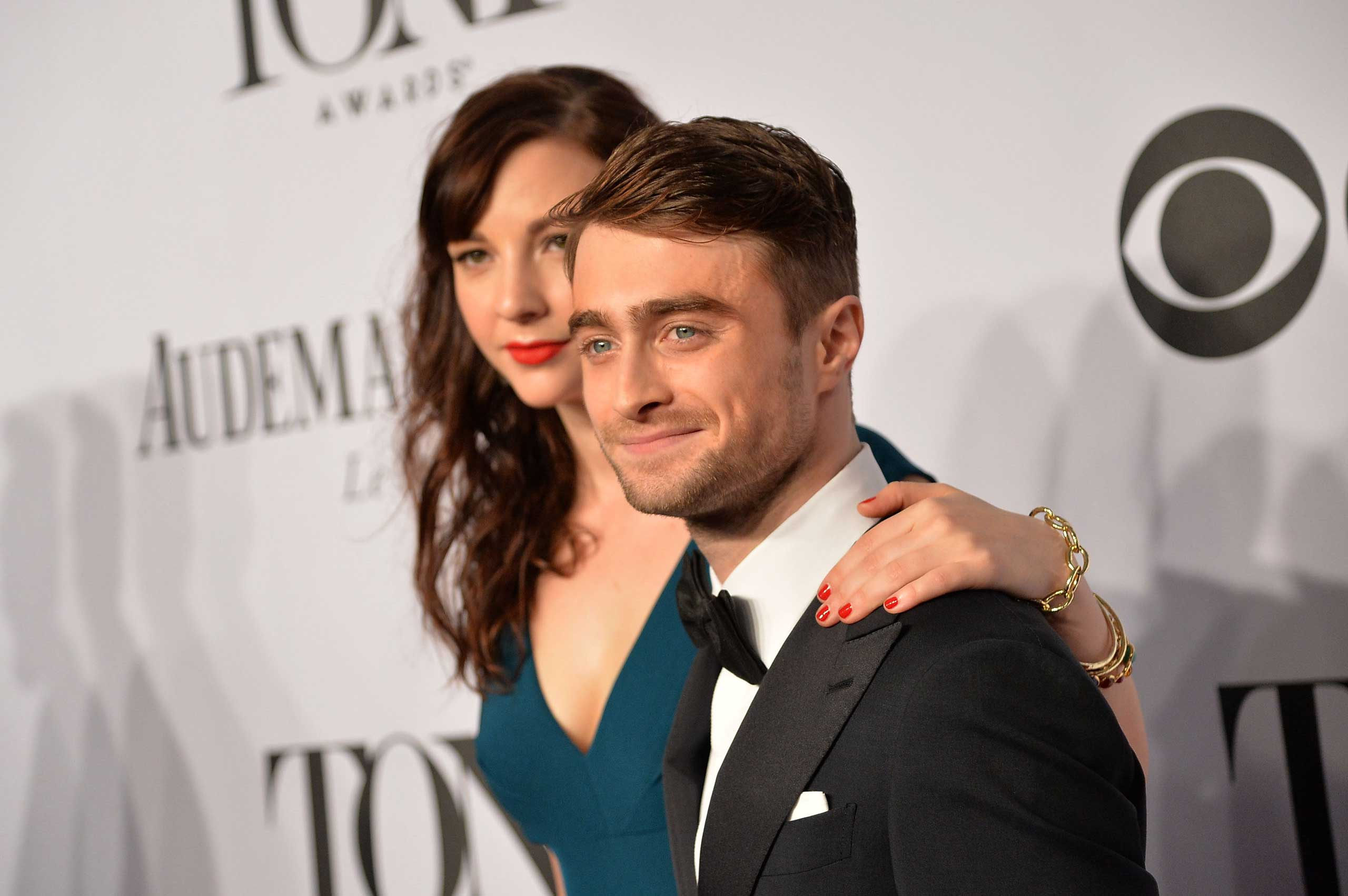 Daniel Radcliffe and Erin Darke at the 68th Annual Tony Awards in New York, June 8, 2014.