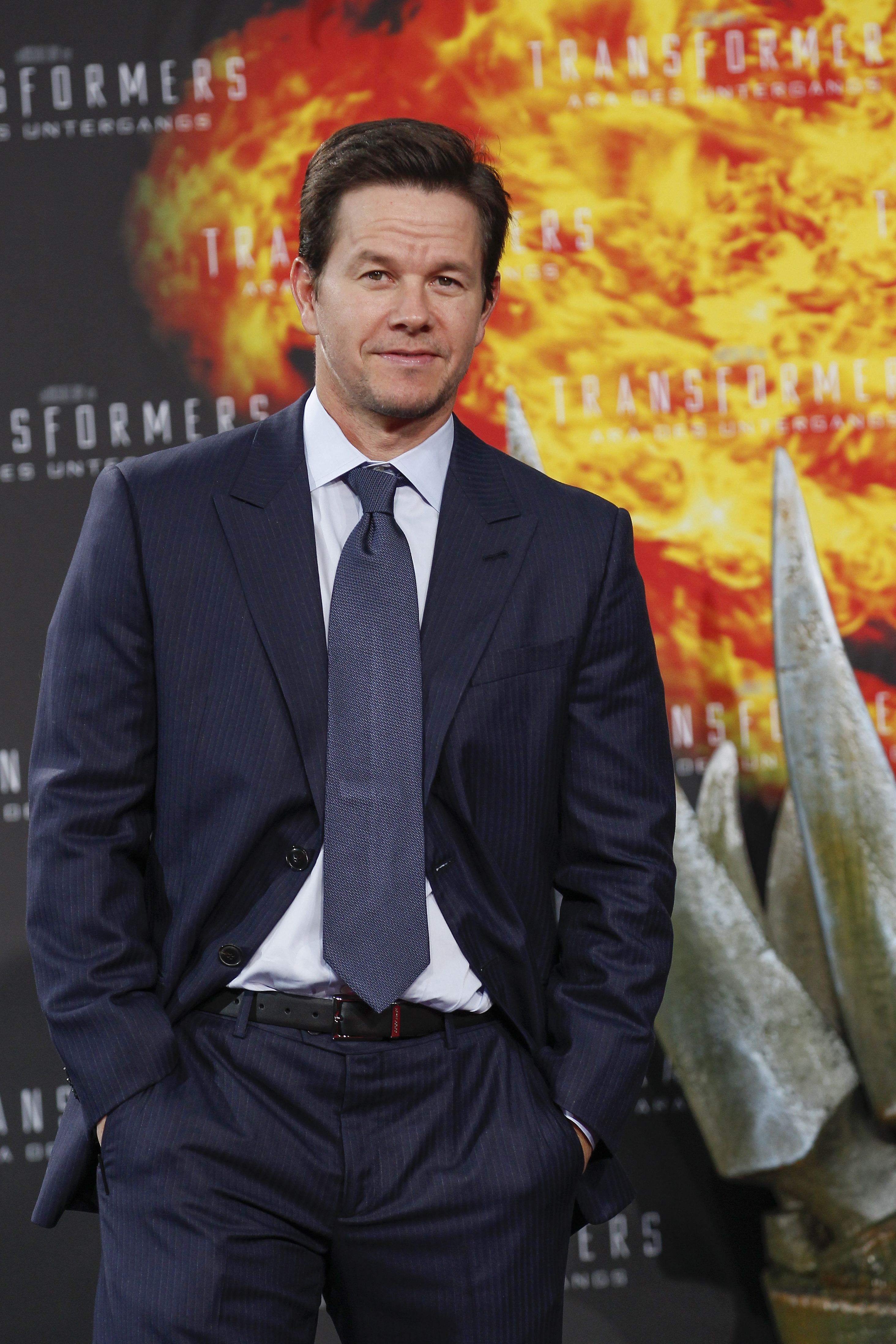 Mark Wahlberg attends the 'Transformers: Age of Extinction' Berlin Premiere on June 29, 2014 in Berlin, Germany.
