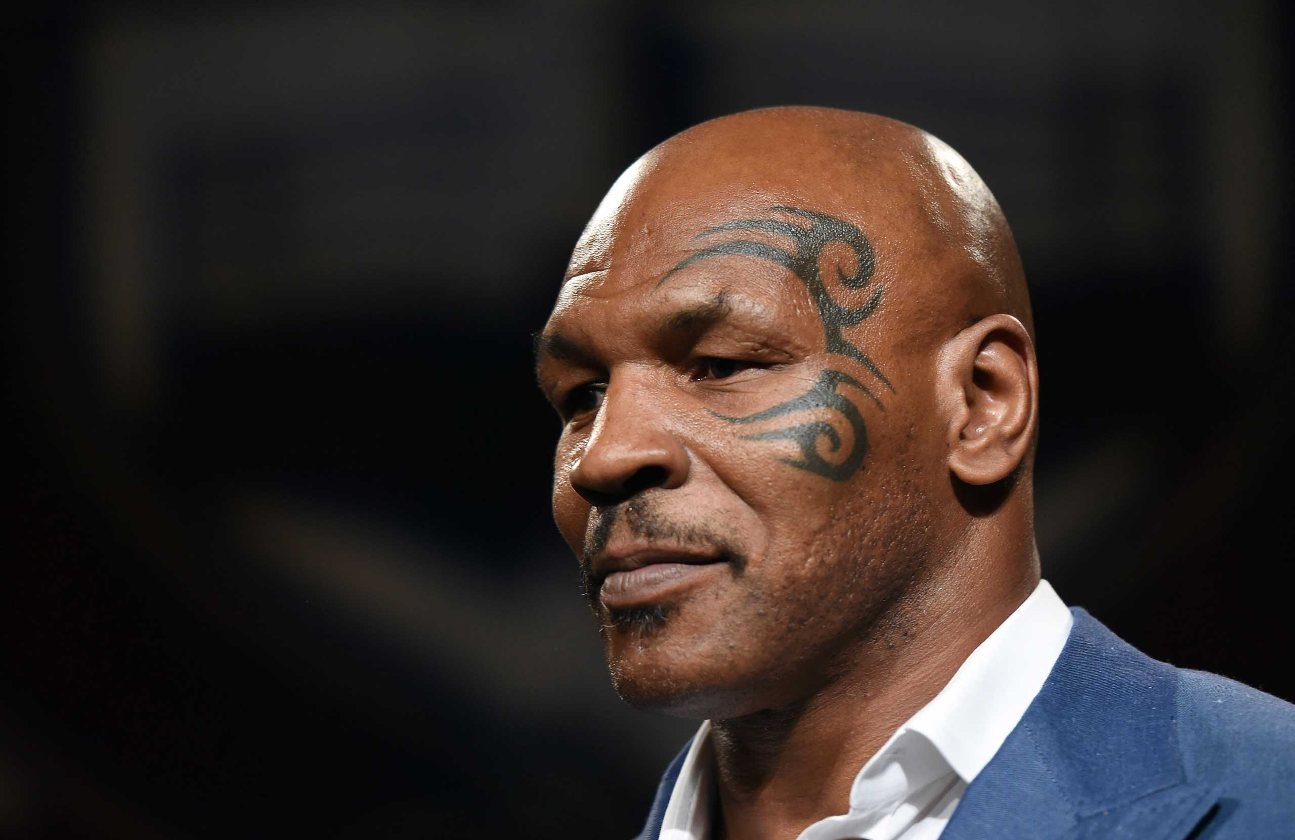 Mike Tyson at the Nevada Boxing Hall of Fame, Aug. 9, 2014 in Las Vegas.