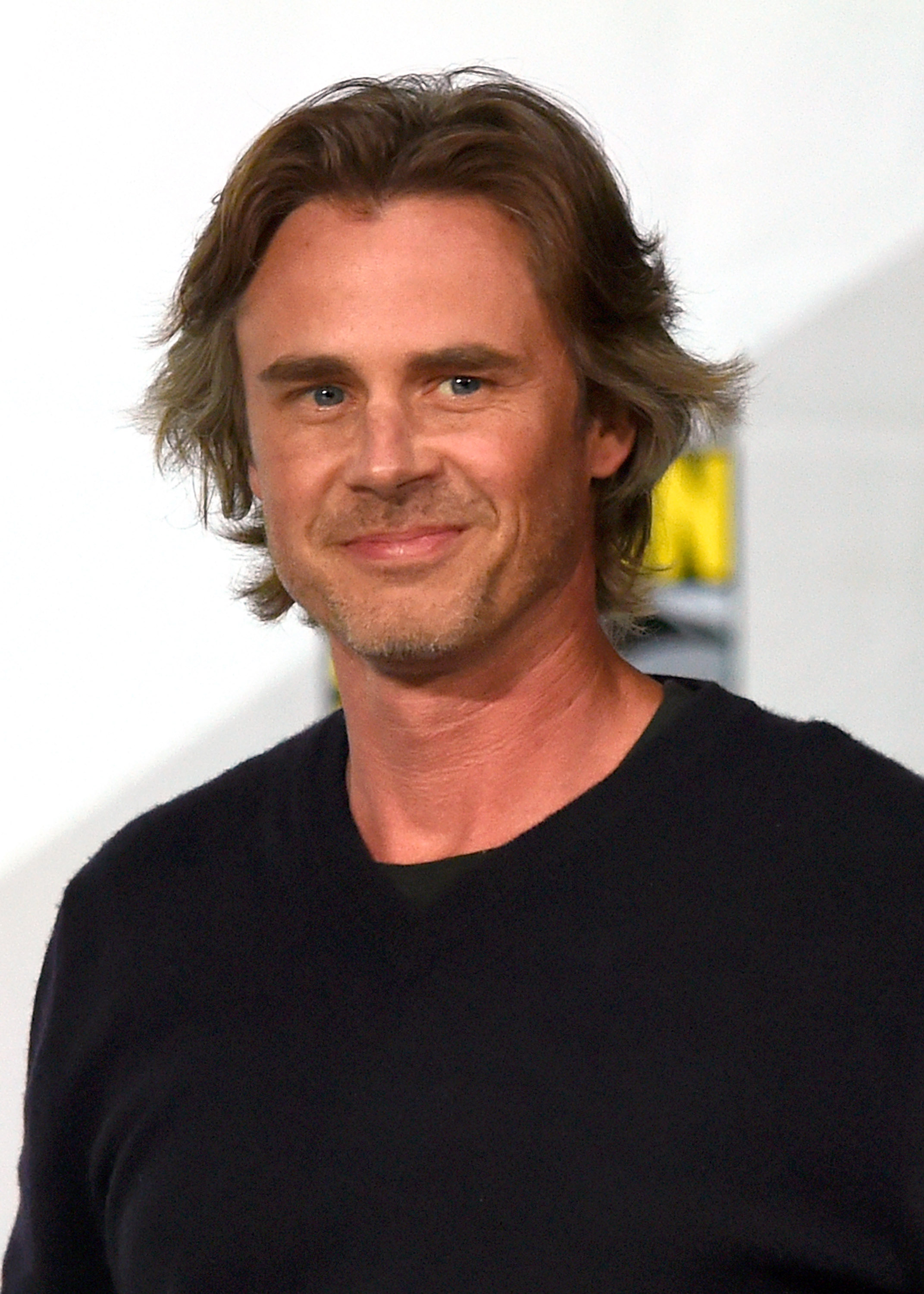 Actor Sam Trammell attends HBO's  True Blood  panel during Comic-Con International 2014 at the San Diego Convention Center on July 26, 2014 in San Diego, California.