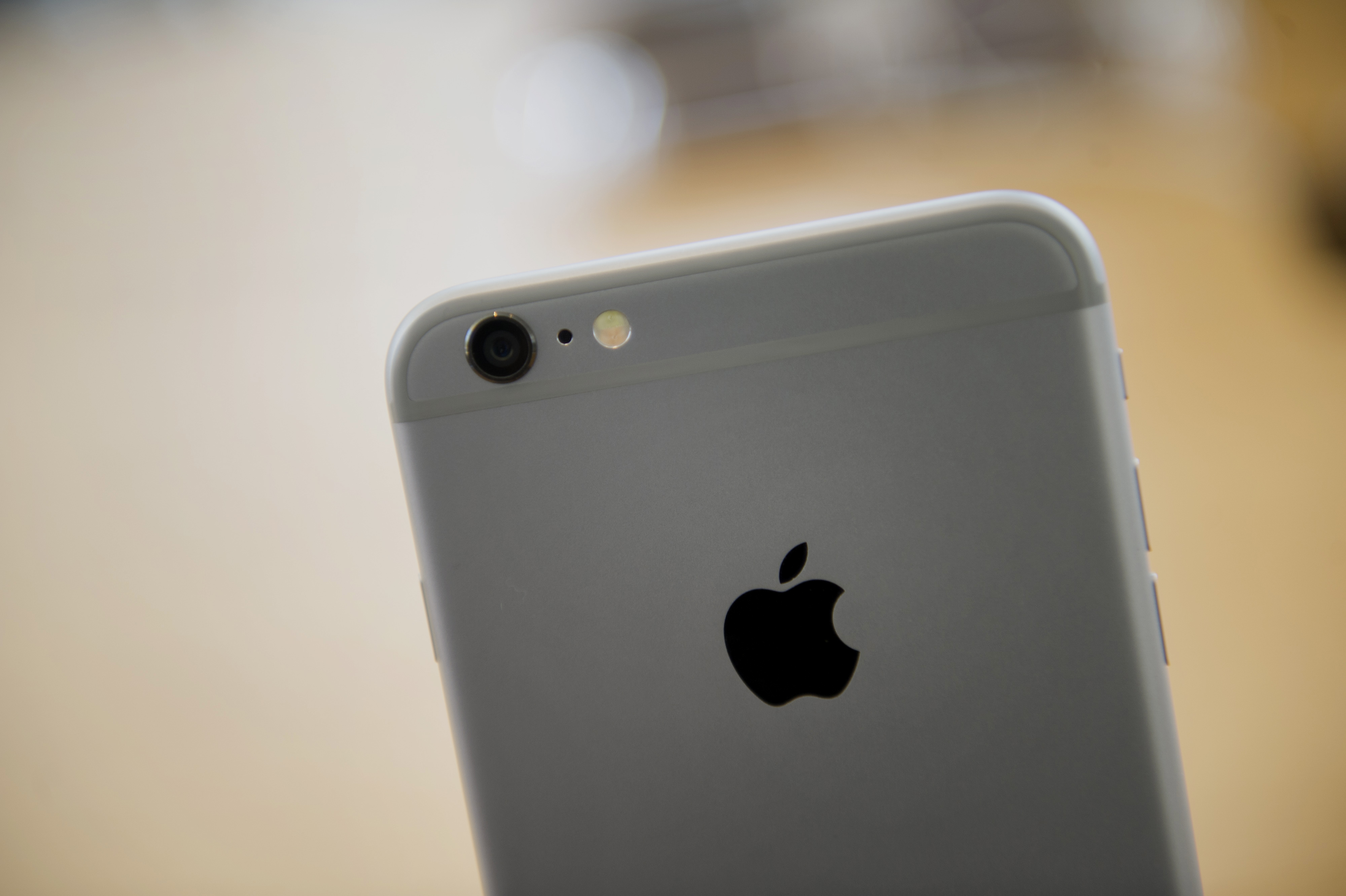 An Apple Inc. iPhone 6 is displayed during the sales launch at an Apple store in Palo Alto, California, U.S., on Friday, Sept. 19, 2014.