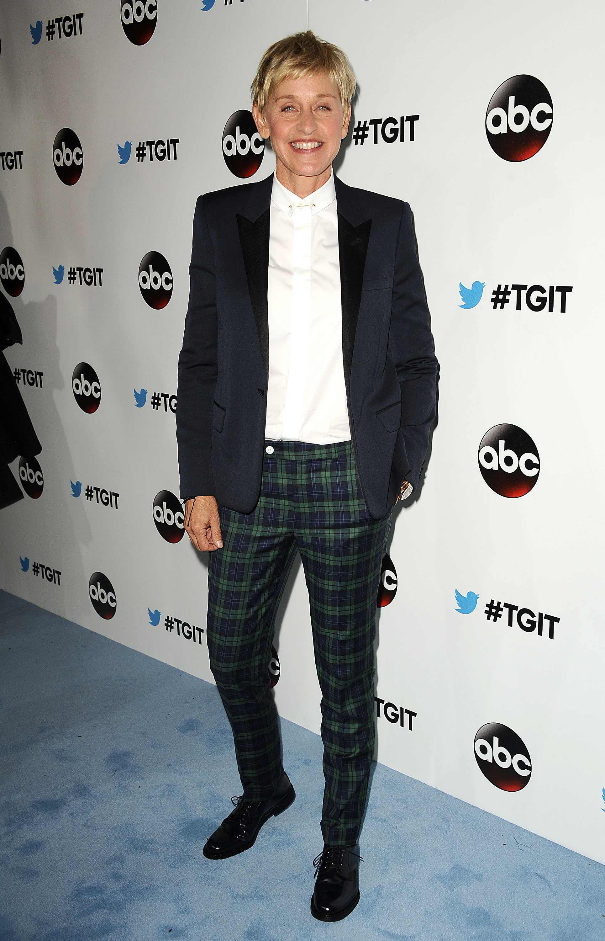 Ellen DeGeneres attends the #TGIT premiere event hosted by Twitter at Palihouse Holloway on September 20, 2014 in West Hollywood, California.