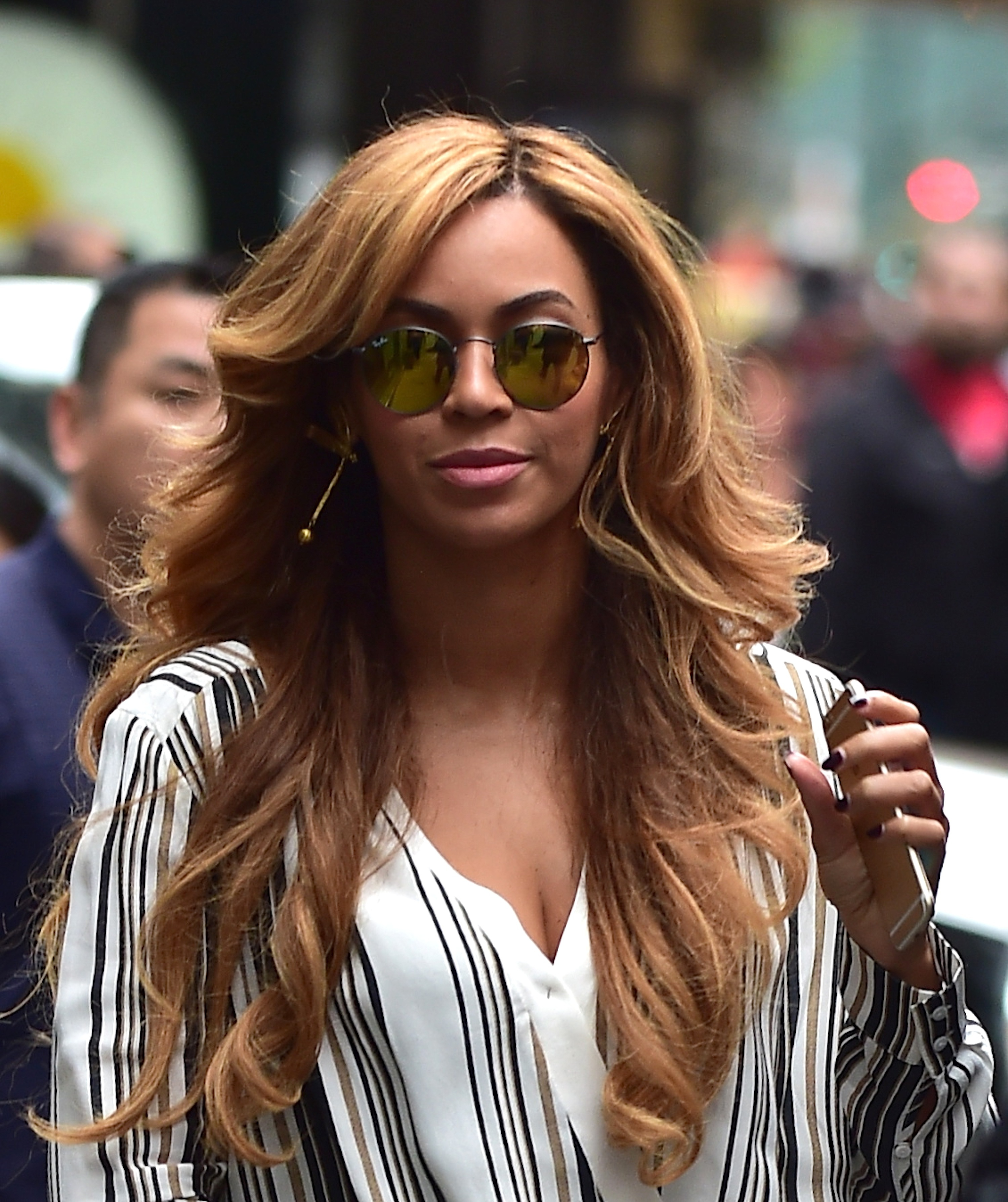 Beyonce Knowles is seen in Midtown on October 29, 2014 in New York City.
