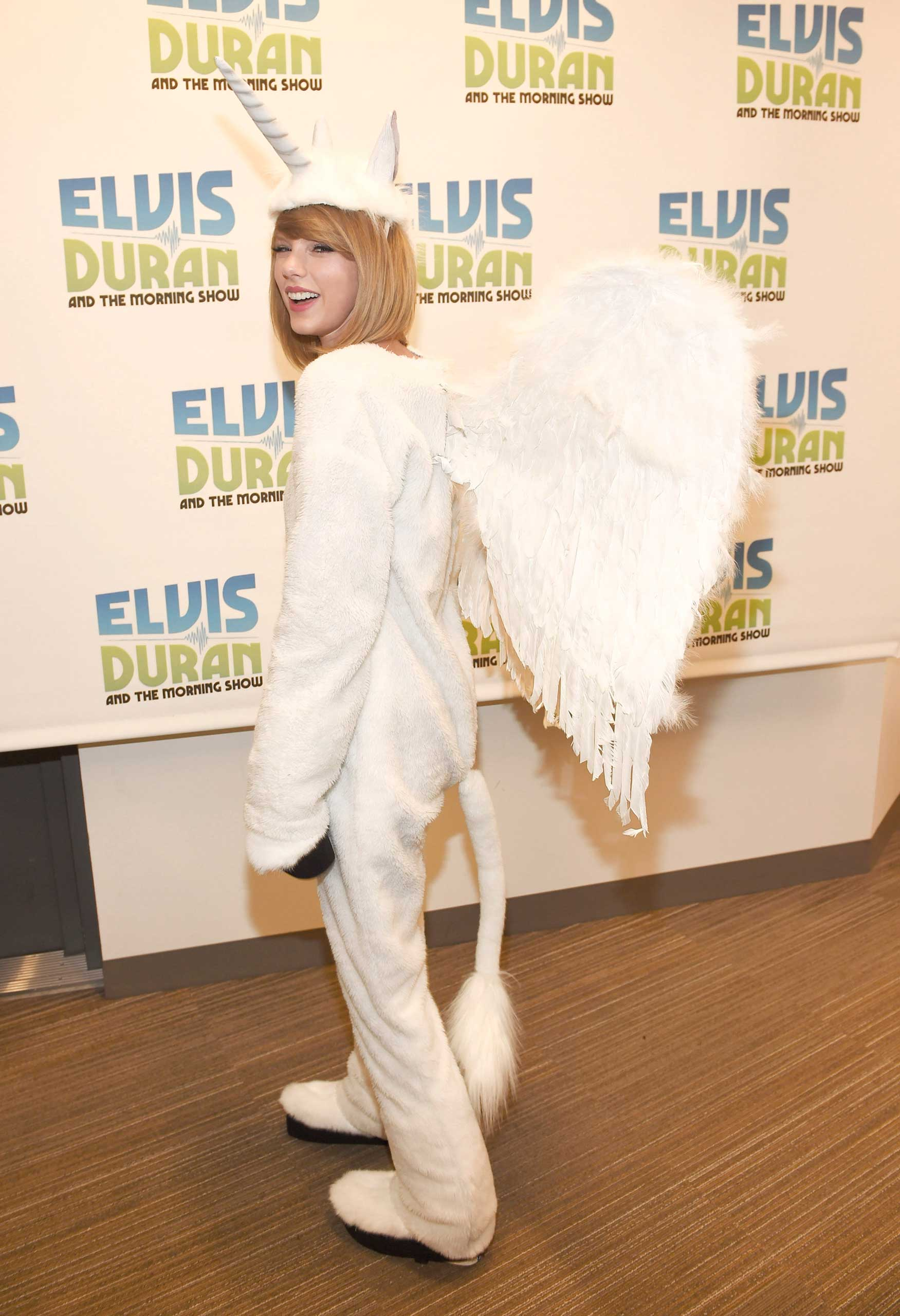 Taylor Swift visits  The Elvis Duran Z100 Morning Show  at Z100 Studio on Oct. 31, 2014 in New York.