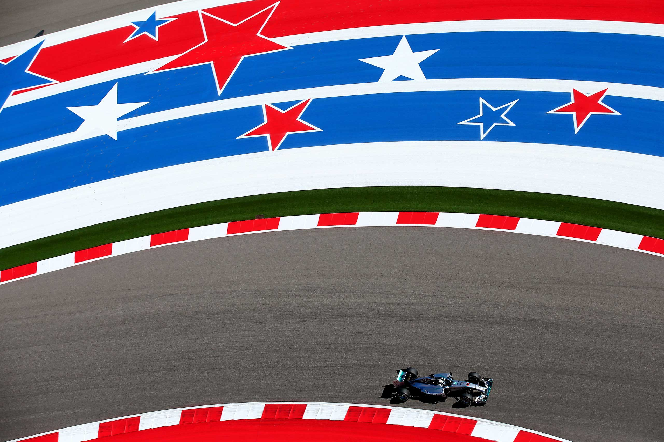 Oct. 31, 2014. Lewis Hamilton of Great Britain and Mercedes GP drives during practice ahead of the U.S. Formula One Grand Prix at Circuit of The Americas in Austin.