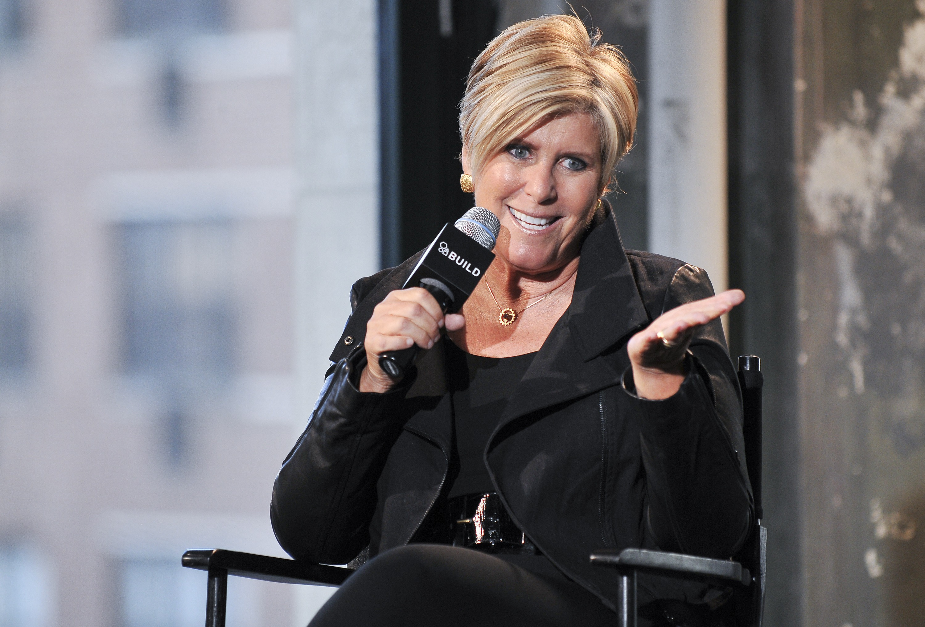 Suze Orman speaks during AOL's BUILD Speaker Series
