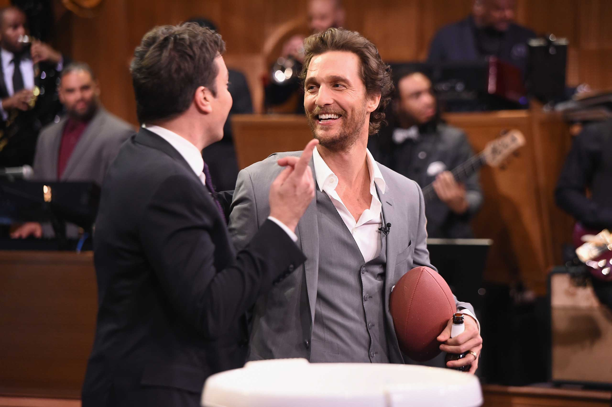 Matthew McConaughey visits  The Tonight Show Starring Jimmy Fallon  at Rockefeller Center on November 6, 2014 in New York City.