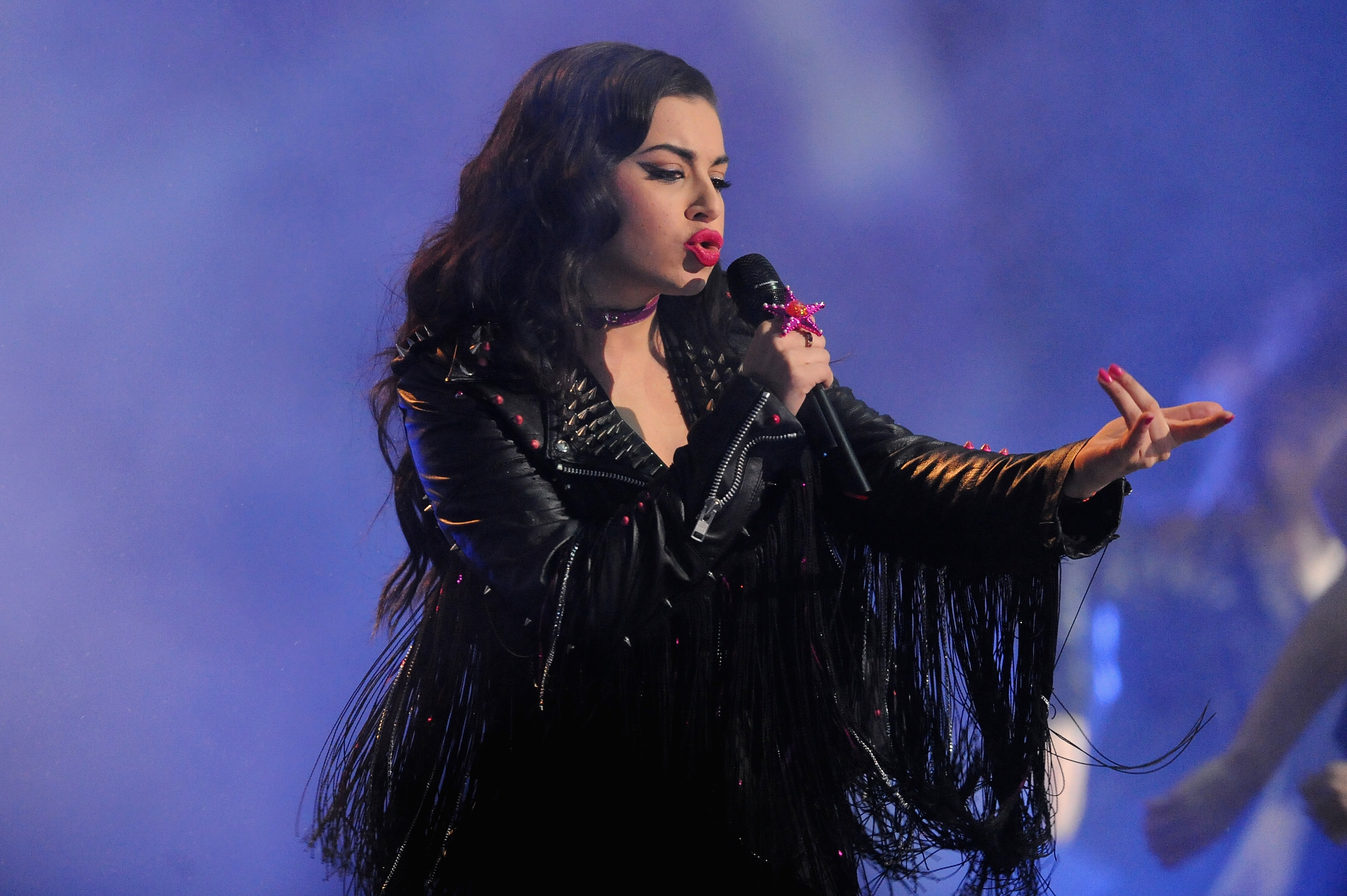 Charli XCX performs on stage during the MTV EMA's 2014 at The Hydro on November 9, 2014 in Glasgow, Scotland.